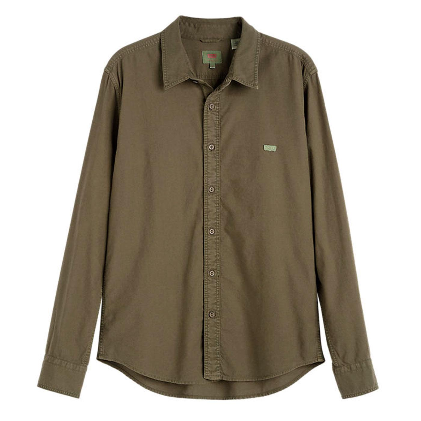 LEVI'S Battery L/S HM Slim Oxford Shirt - Olive