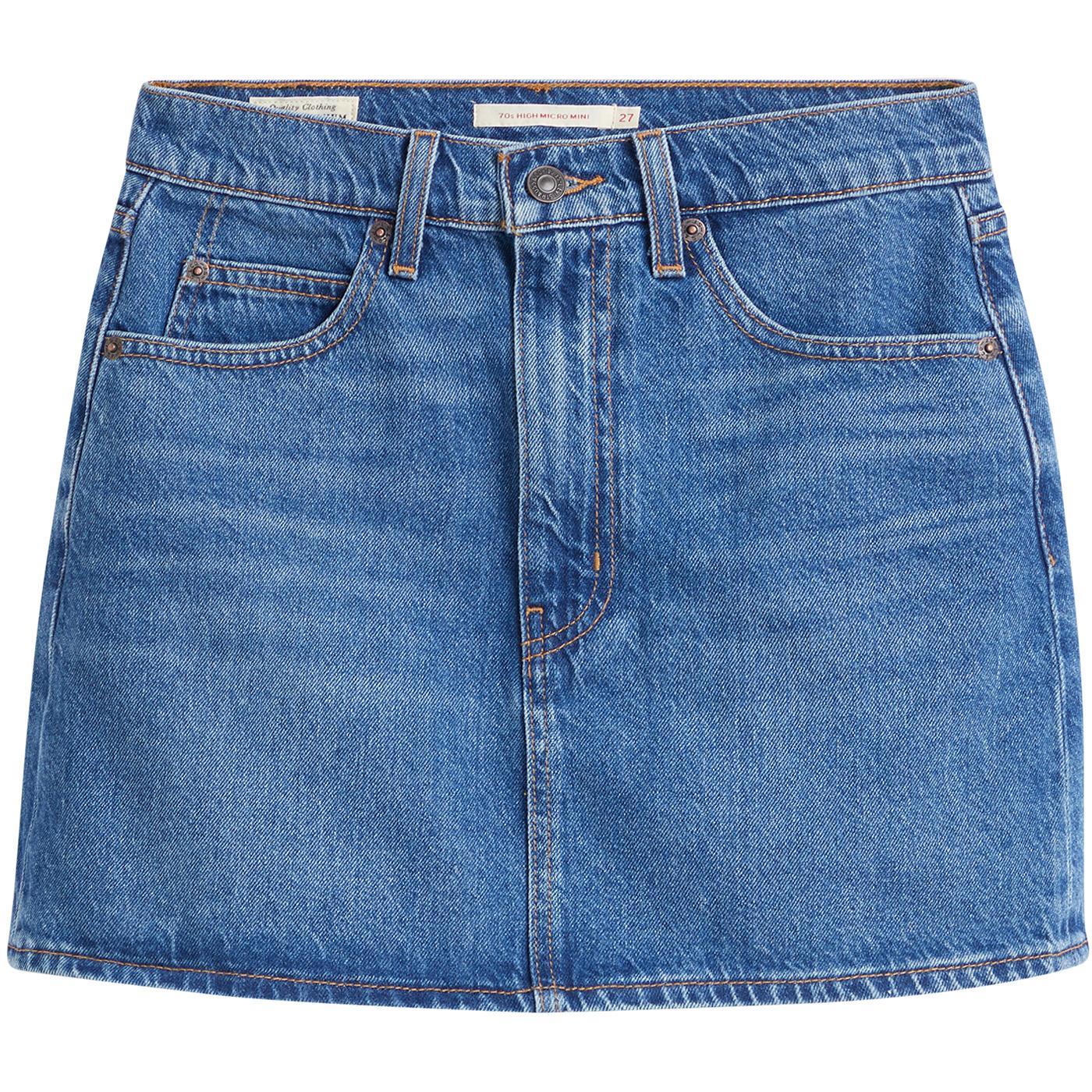 LEVI'S 70's High Retro Micro Mini Skirt (Mini Me)