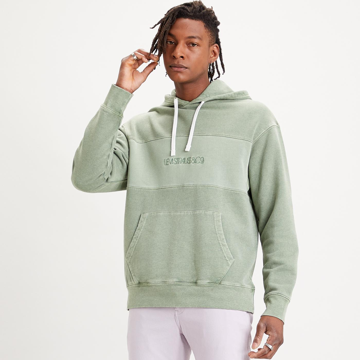 LEVI'S Men's Relaxed Fit Retro Novelty Hoodie (HG)