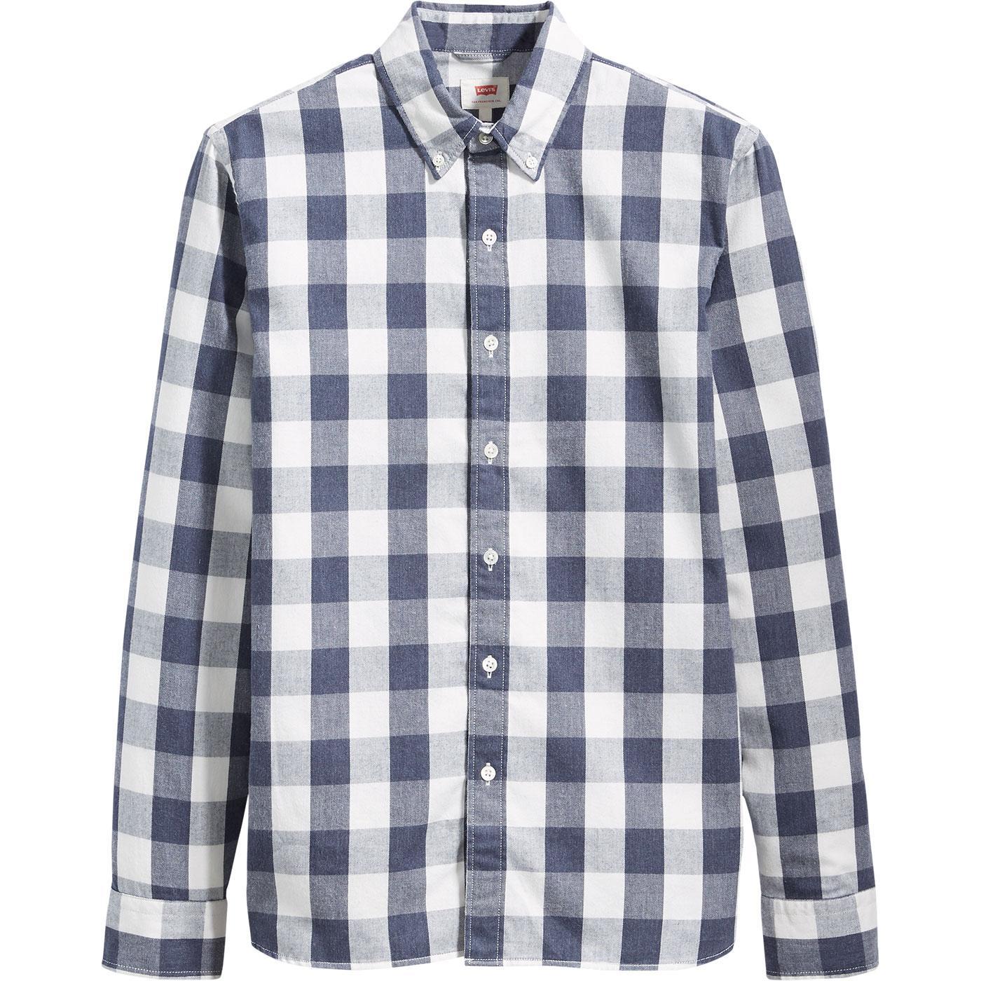 LEVI'S Men's Retro Mod Block Check No Pocket Shirt