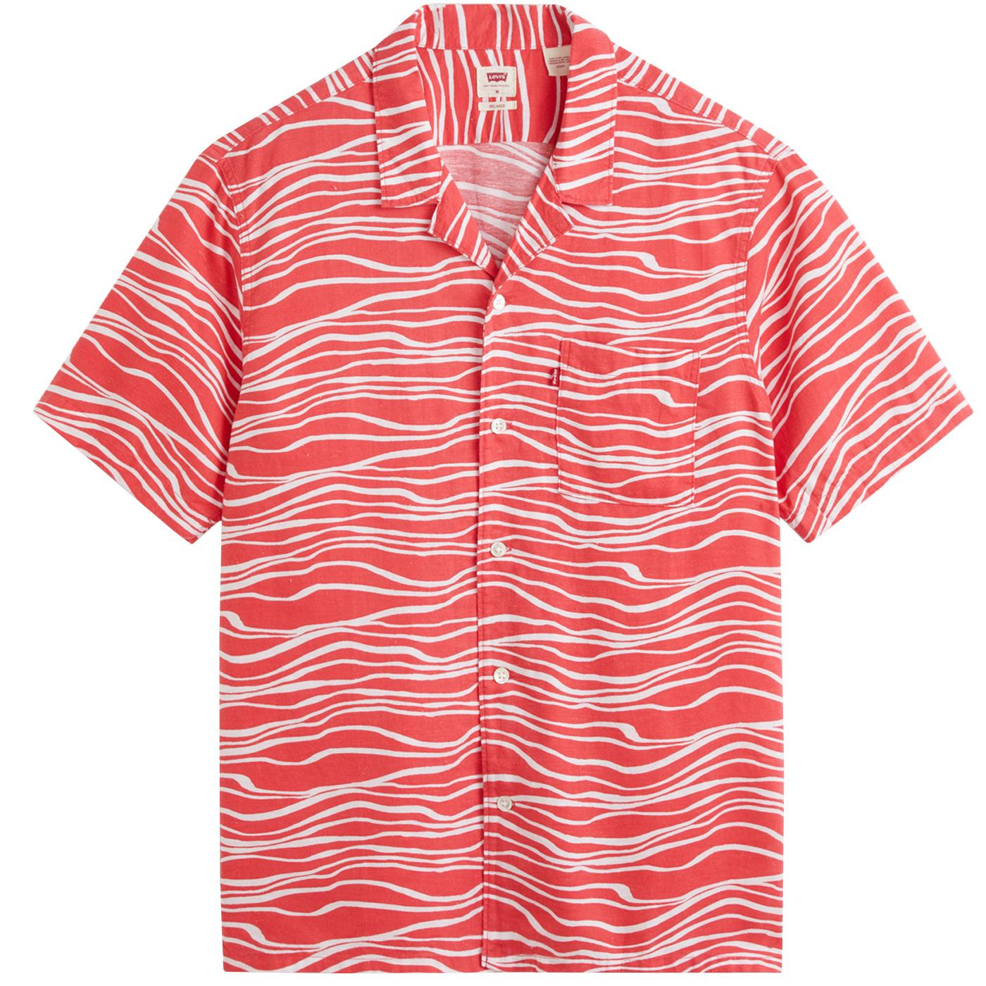 LEVI'S Wavy Stripe Revere Collar 70s Cubano Shirt