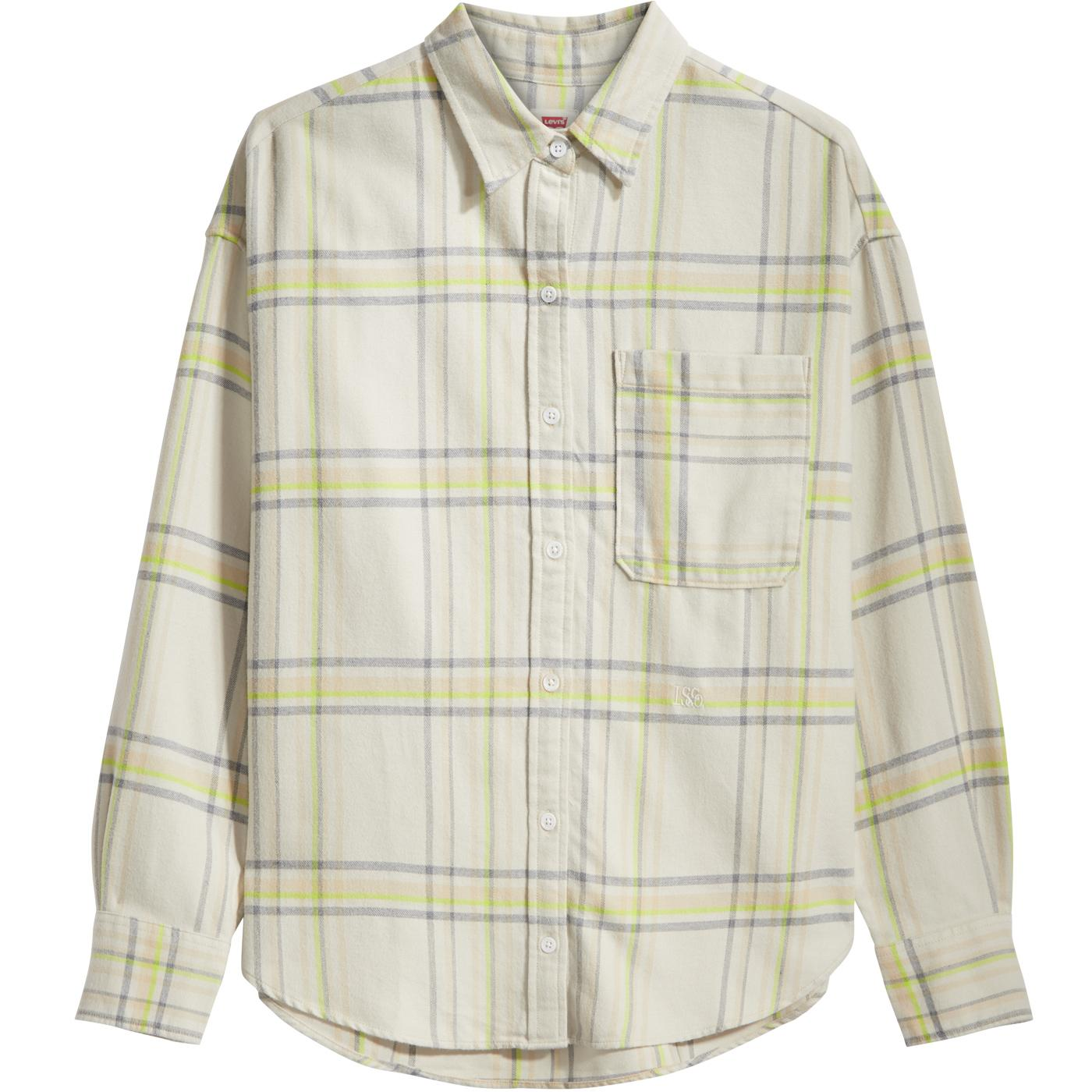LEVI'S Women's Retro Check Relaxed Shirt (WAM)