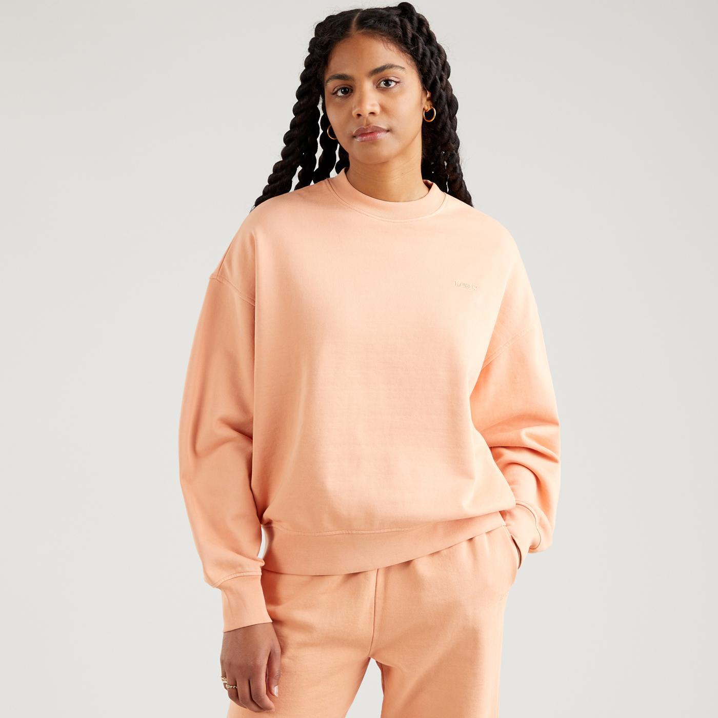 LEVI'S WFH Garment Dye Sweatshirt (Peach Bloom)