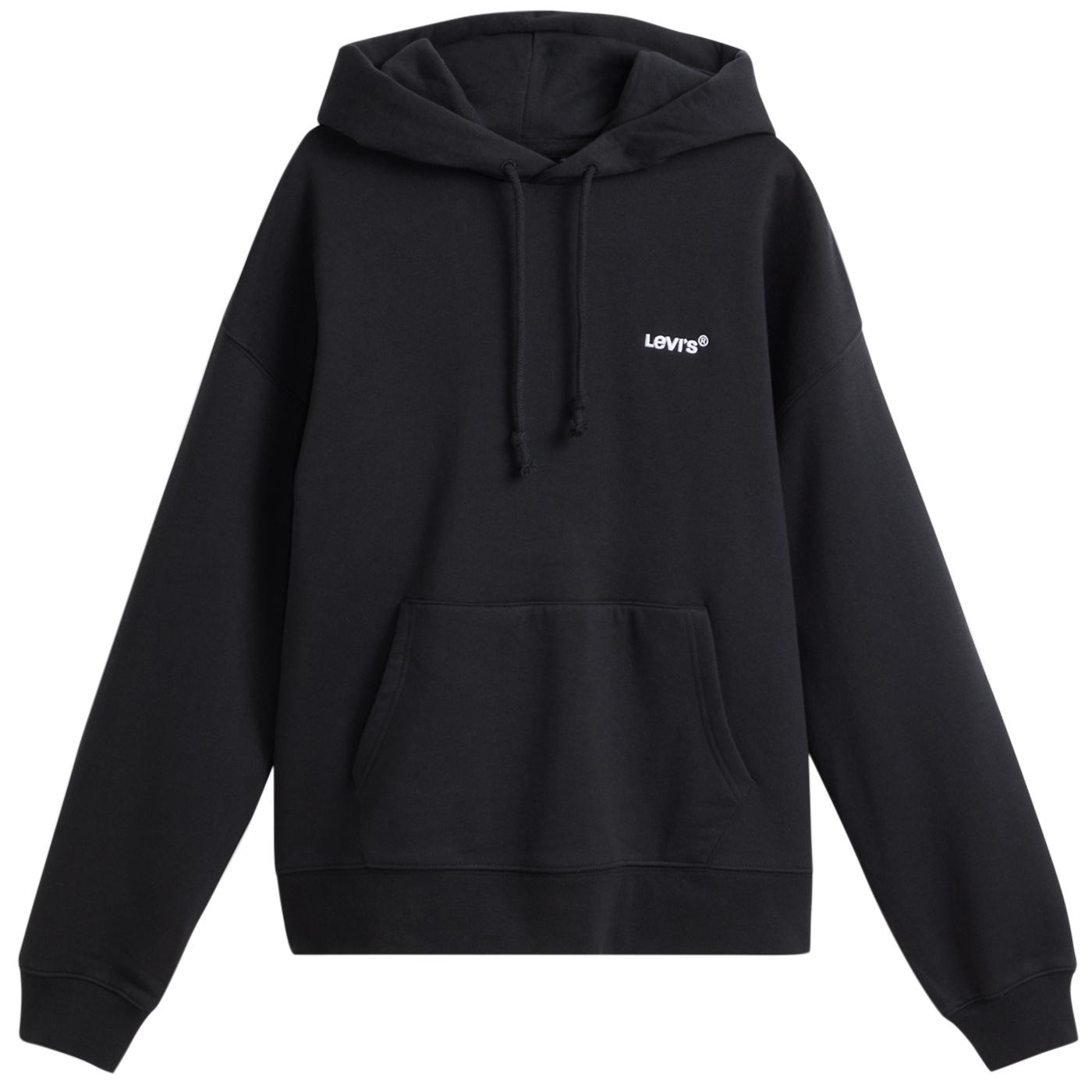 LEVI'S Red Tab Relaxed Fit Hoodie (Mineral Black)