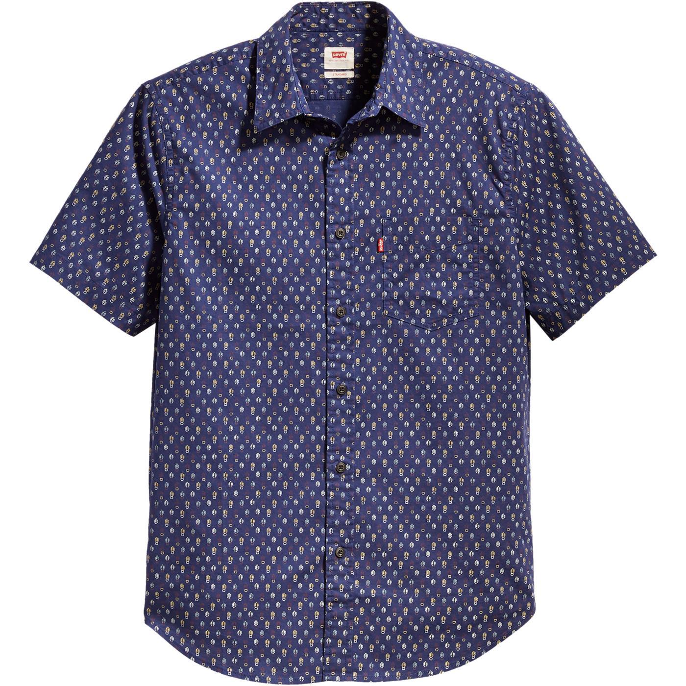 LEVI'S Retro 50s 1 Pocket Cactus Print Shirt (SB)