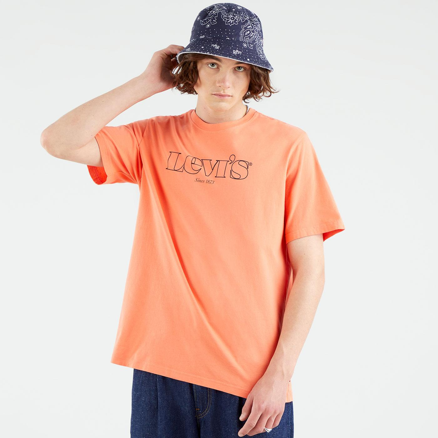 LEVI'S Relaxed Fit Retro 90s Outline Logo Tee (CQ)