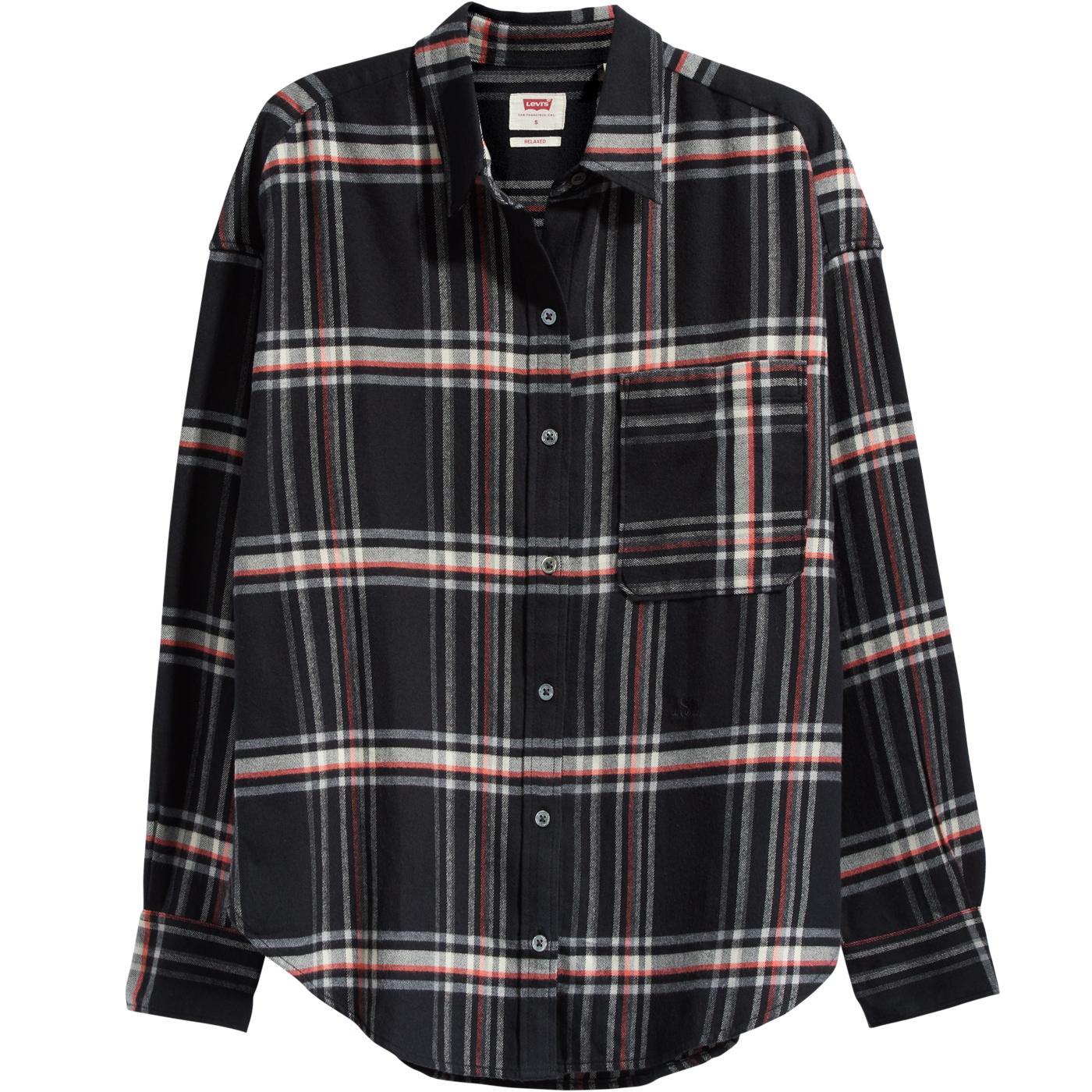 LEVI'S Womens Relaxed Fit Retro Plaid Check Shirt