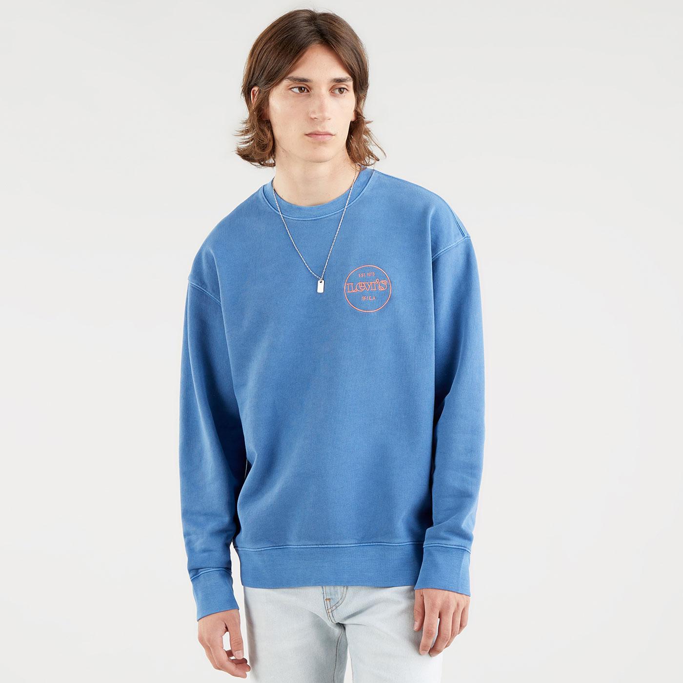 LEVI'S Relaxed T2 Graphic Crew Sweatshirt (SSB)