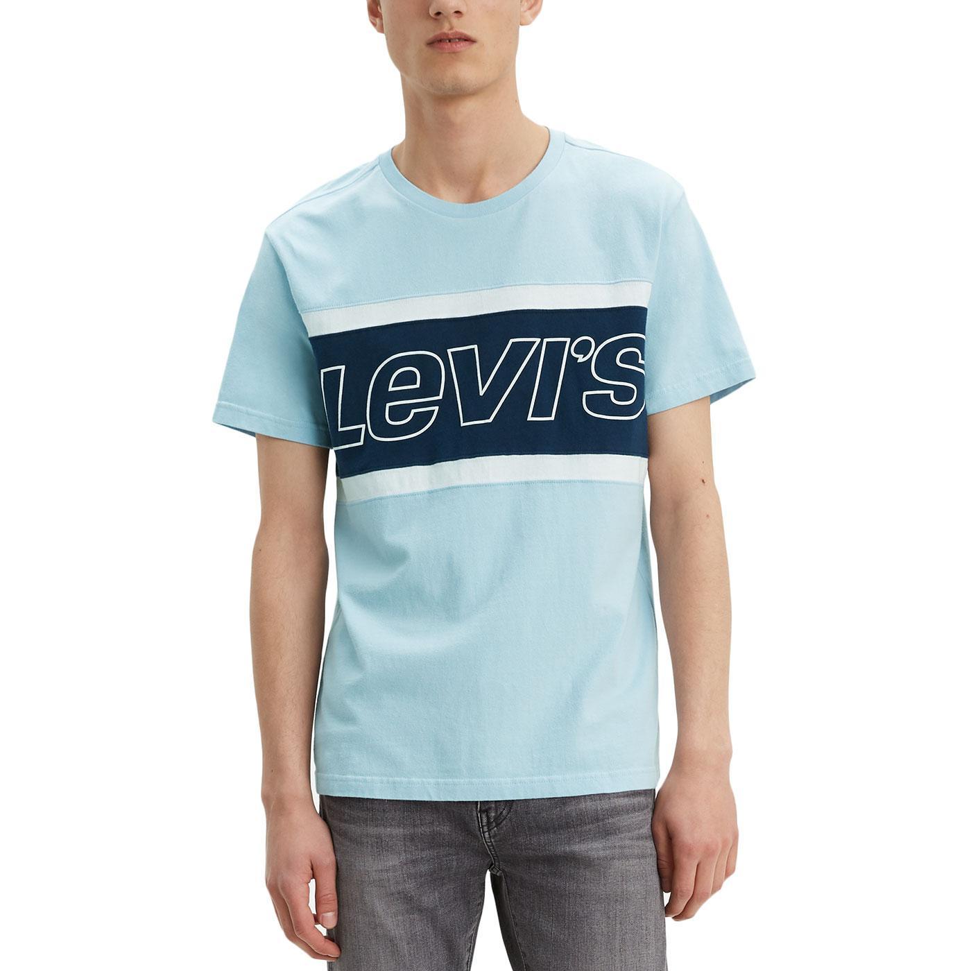 LEVI'S Retro Cut & Sew Colour Block Logo Tee W