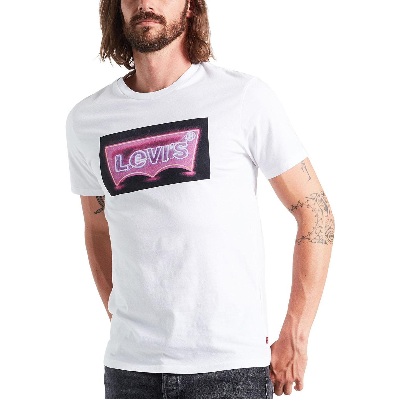 LEVI'S Men's Retro 80s Neon Sign Batwing Logo Tee