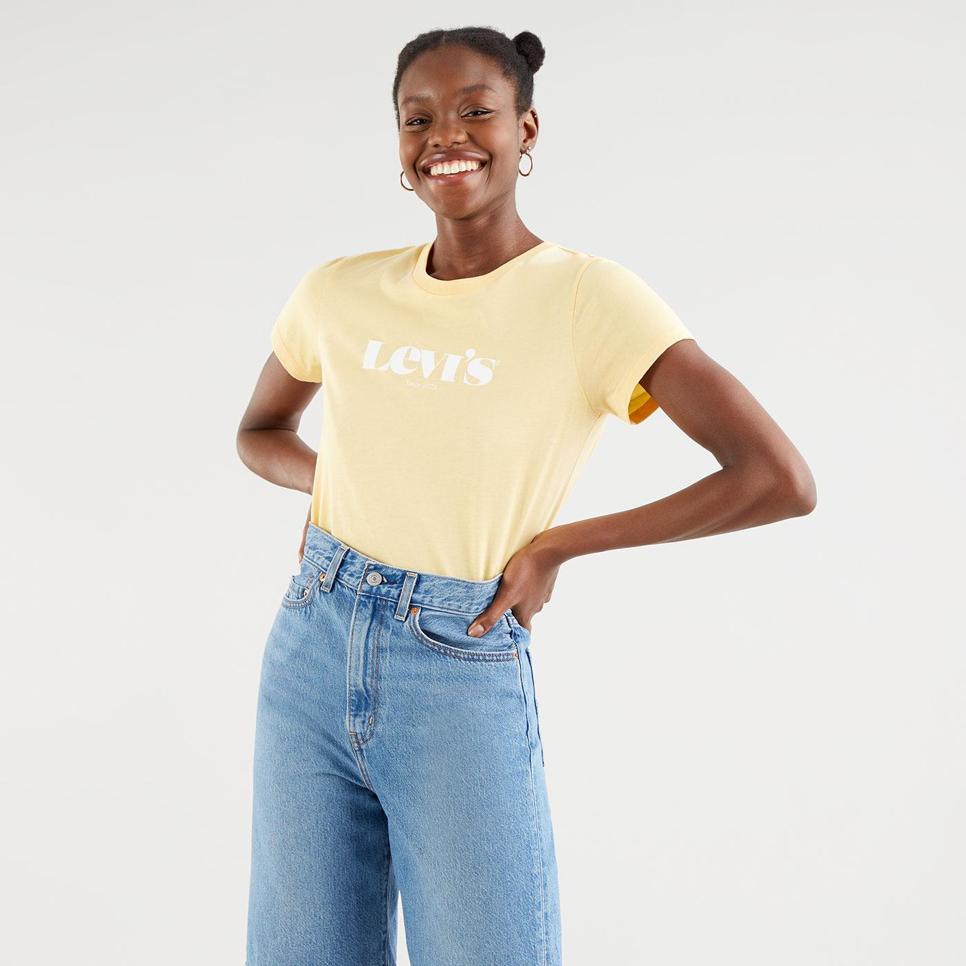 The Perfect Tee LEVI'S WOMEN'S Logo Tee in Golden