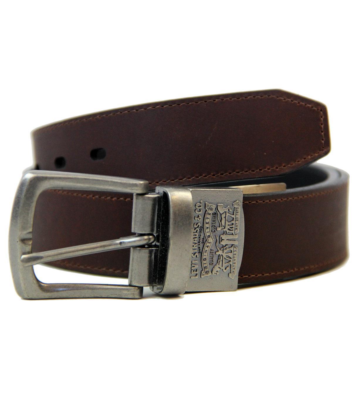 levi s 174 retro mod logo reversible leather belt