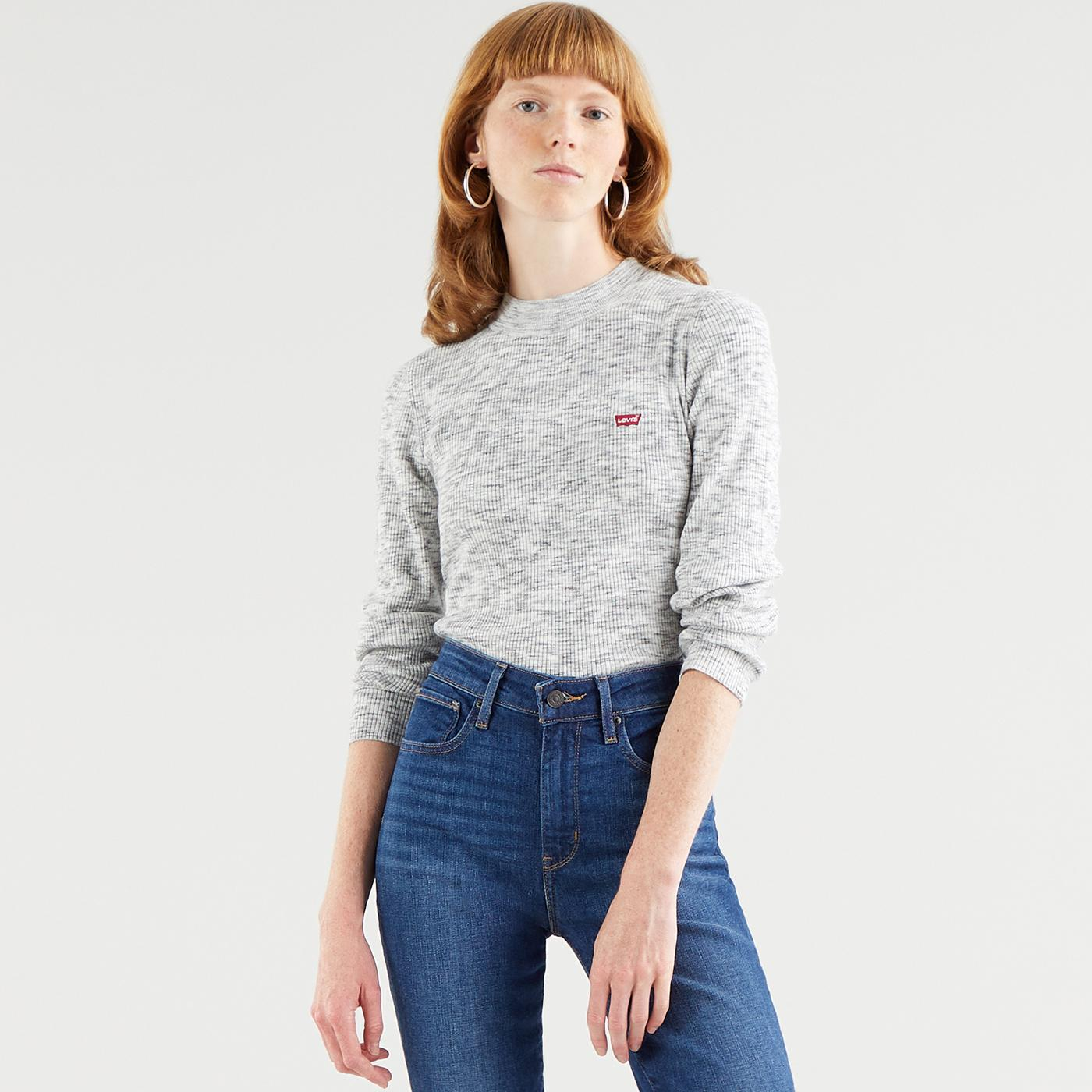 LEVI'S Women's Rib Sweater (Thunder Space Dye)
