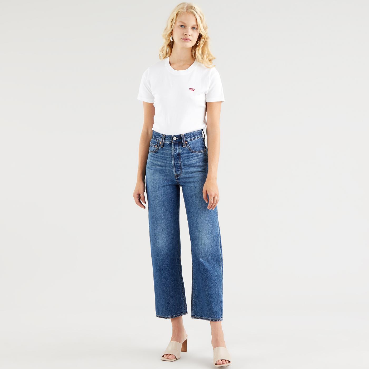 LEVI'S Ribcage Straight Ankle Jeans (Noe Fog)
