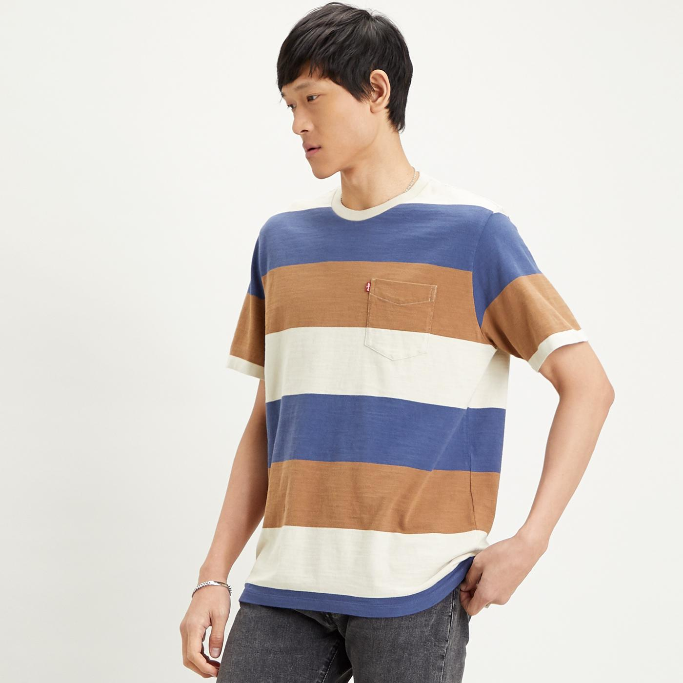 LEVI'S Relaxed Retro Indie Rugby Stripe Pocket Tee