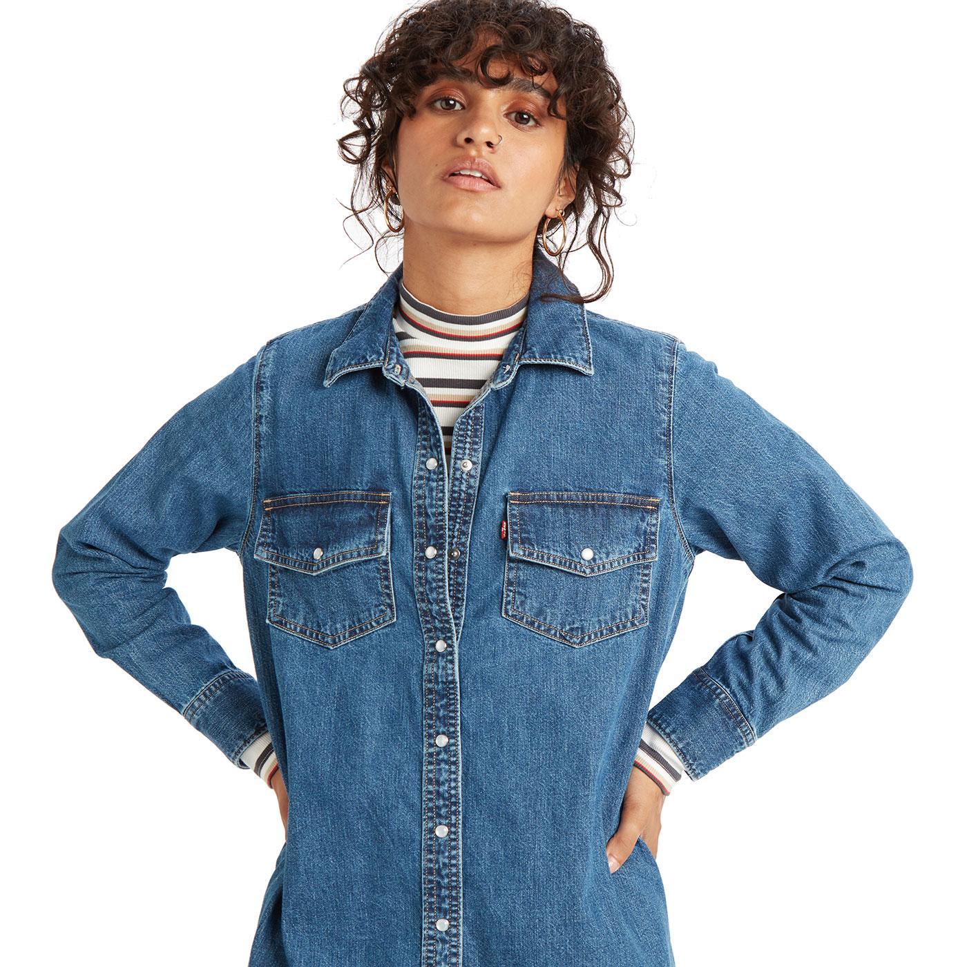 LEVI'S Selma 60s Denim Shirt Dress (Going Steady)