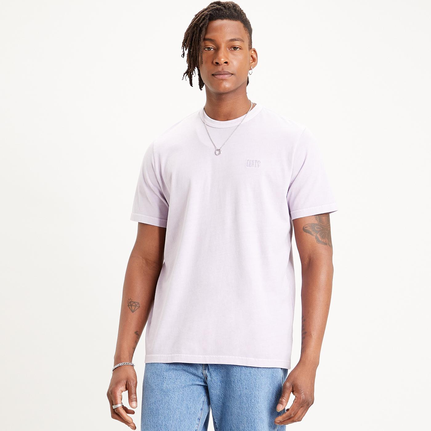 LEVI'S Retro Authentic Serif Logo Tee (Lavender)