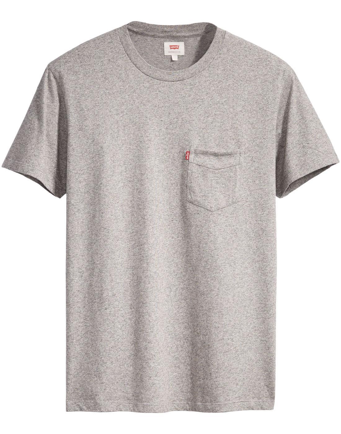 LEVI'S Retro Setin Sunset Pocket T-Shirt (Grey)
