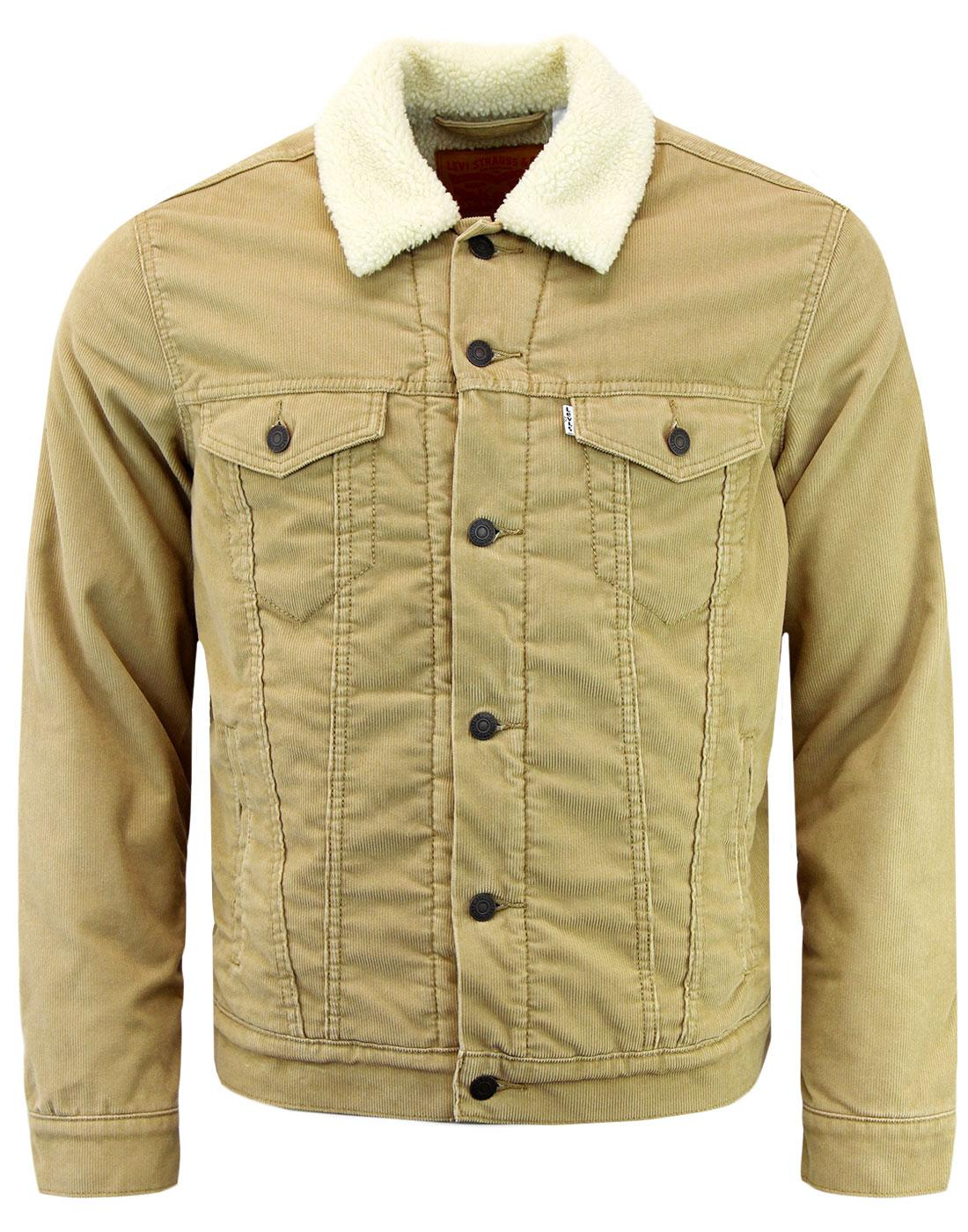 LEVI'S Retro Good Sherpa Cord Trucker Jacket SAND