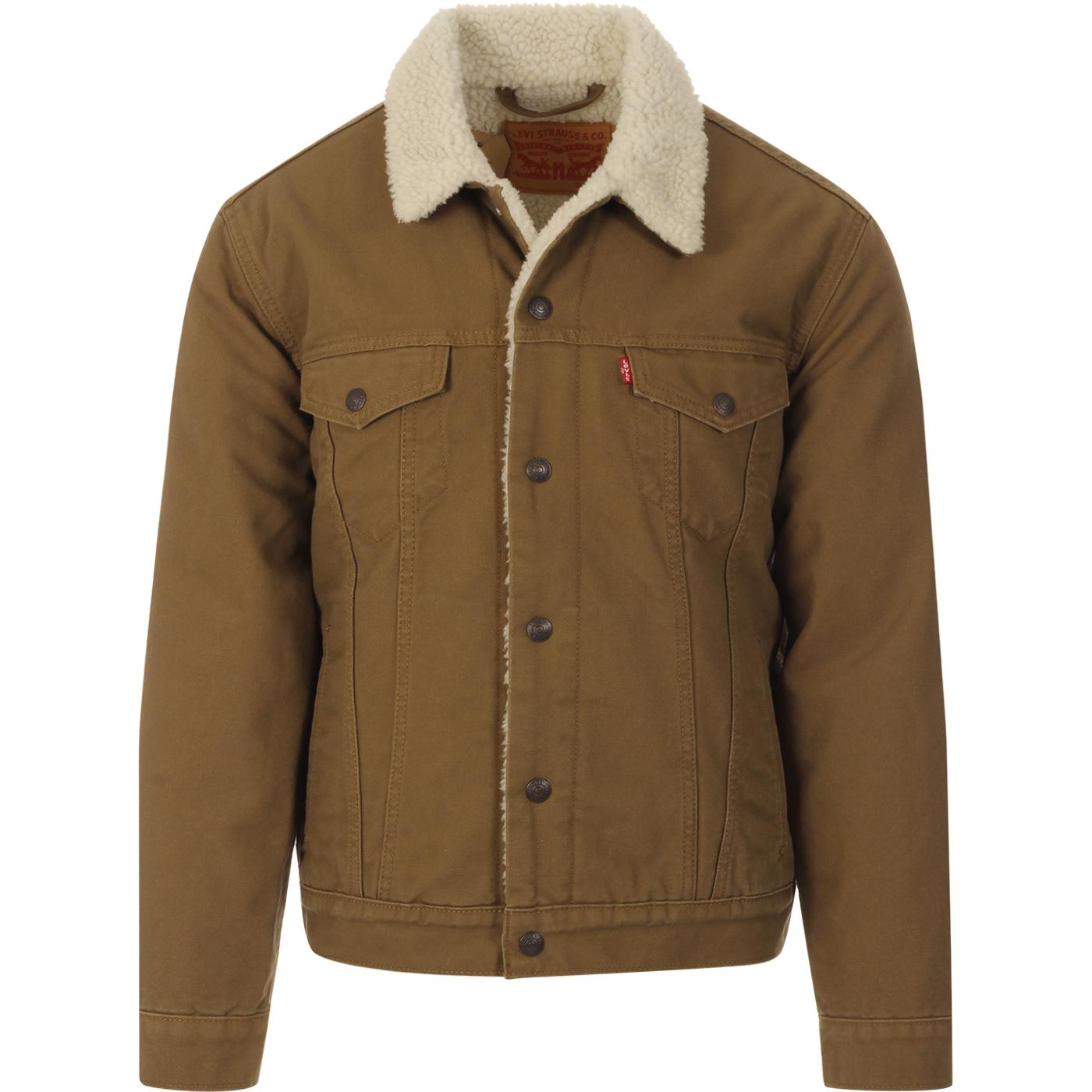 LEVI'S Type 3 Cougar Canvas Sherpa Trucker Jacket