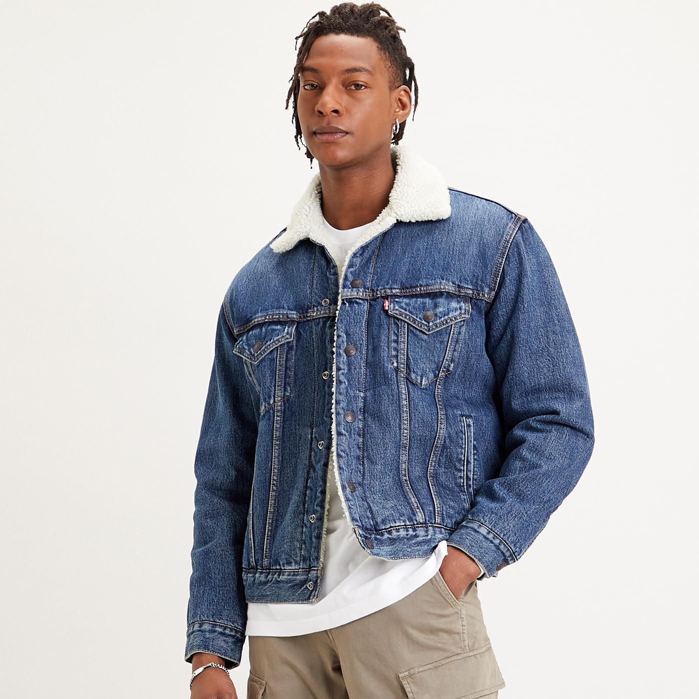 LEVI'S Vintage Fit Denim Sherpa Trucker Jacket DI