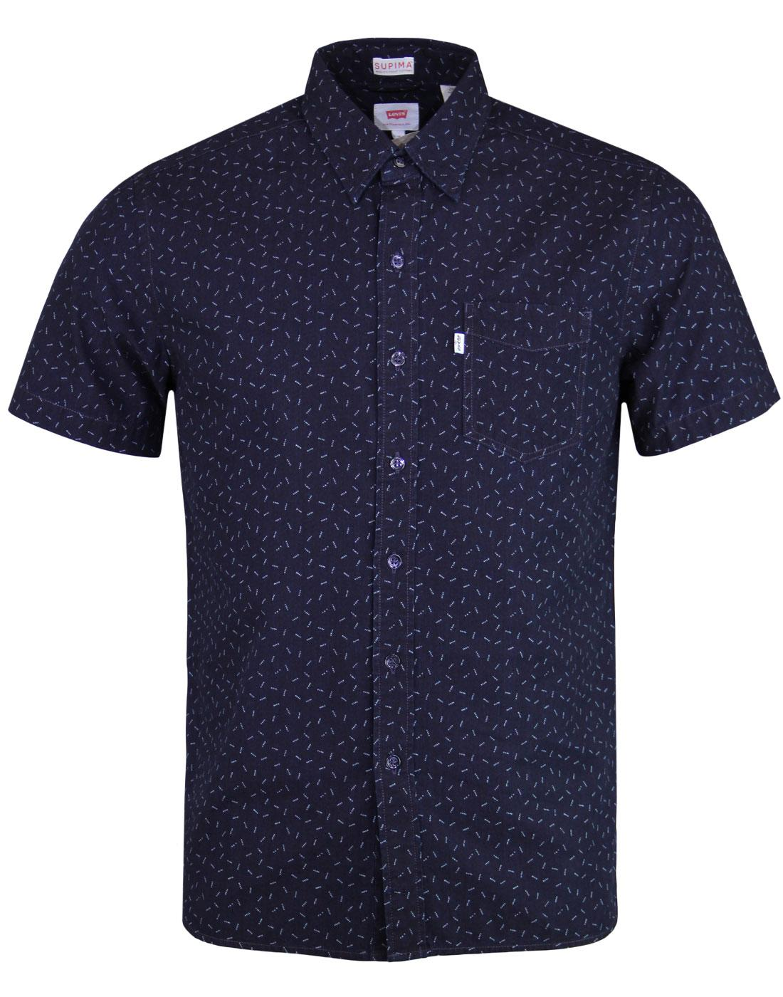 LEVI'S Sunset 1 Pocket SS Retro Micro Dot Shirt