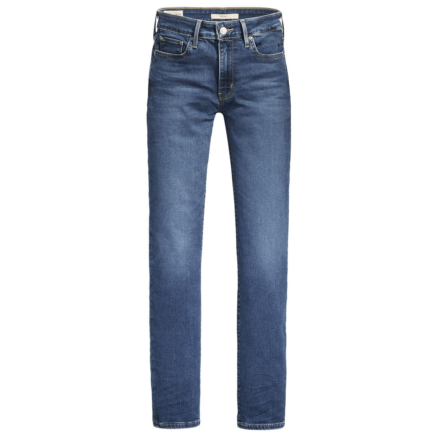 LEVI'S Women's 712 Slim Jeans - Paris Cheers