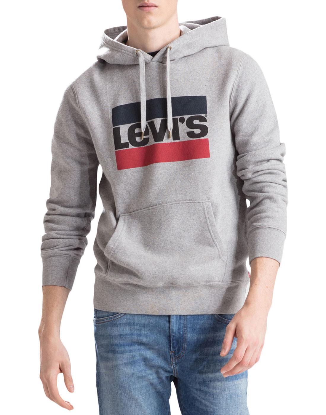 LEVI'S Retro 80s Sports Logo Hooded Sweatshirt