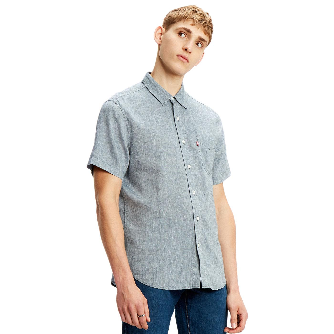 LEVI'S Retro Mod S/S Sunset 1 Pocket Linen Shirt