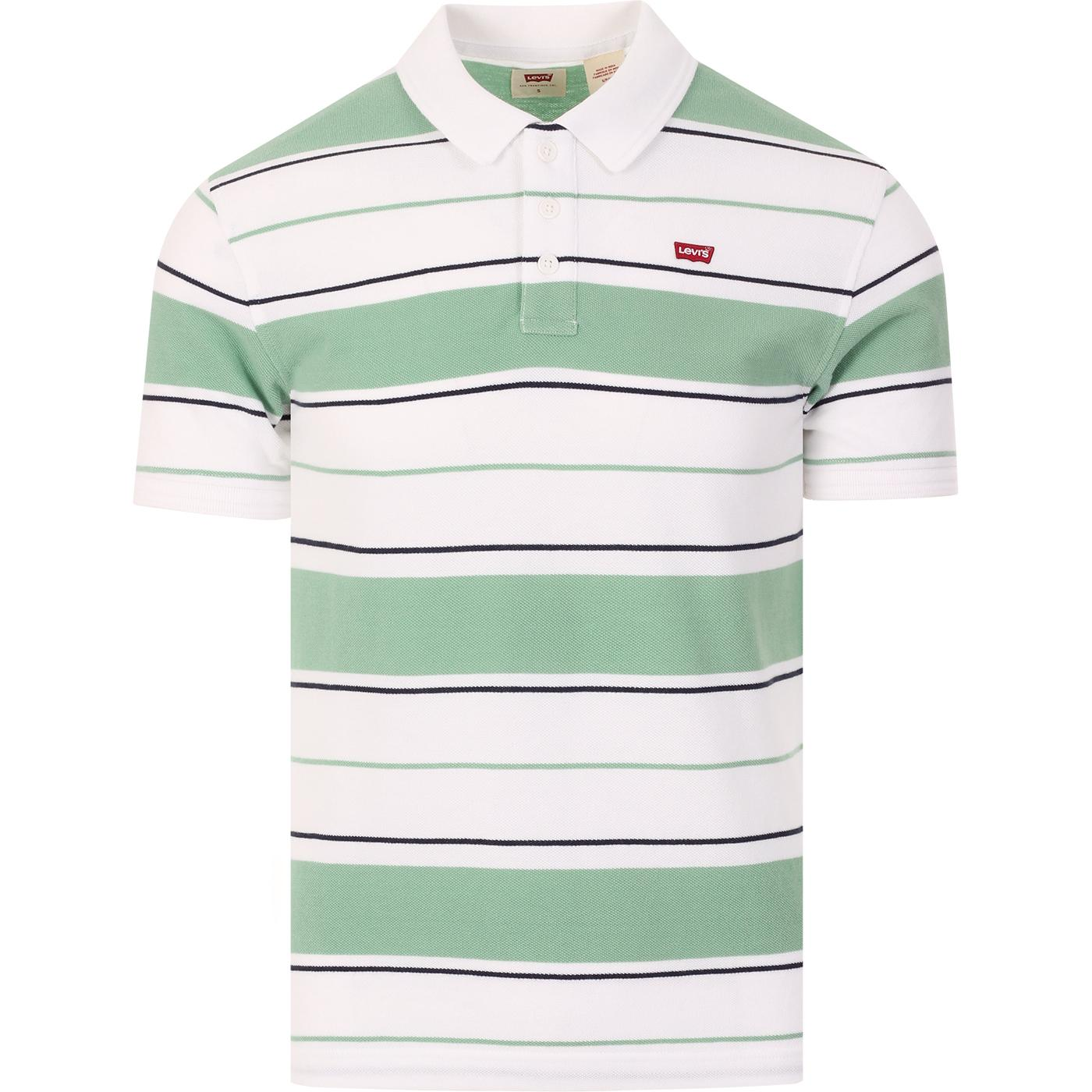 LEVI'S Retro Mod Stripe Housemark Patch Polo (W/G)