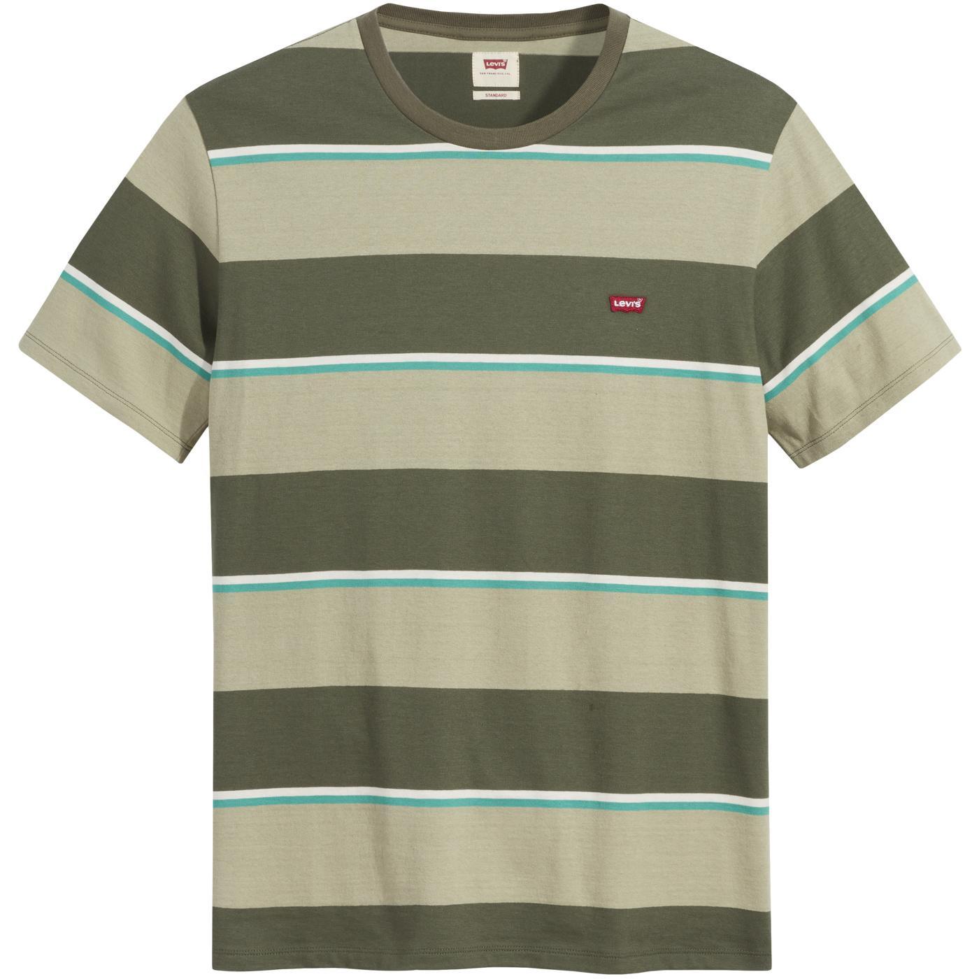 LEVI'S Original HM Men's Retro Stripe Tee (Green)