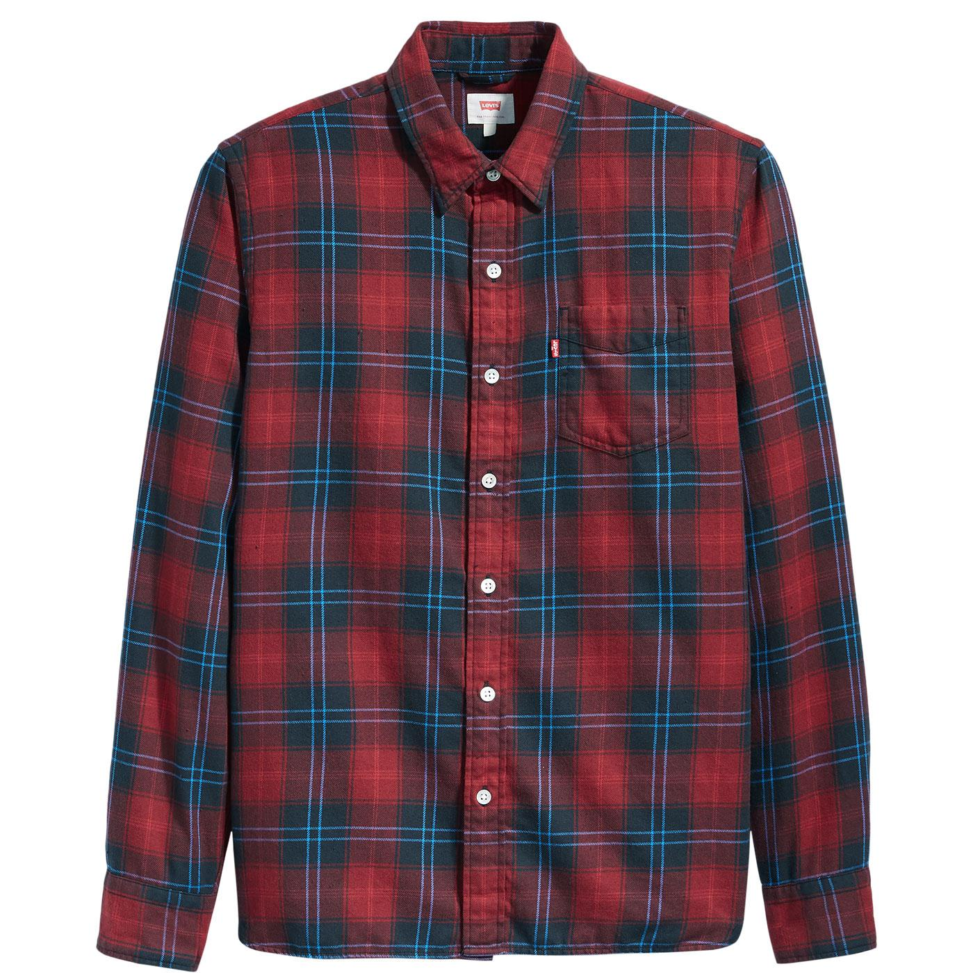 LEVI'S Sunset Pocket Cummings Graphite Check Shirt