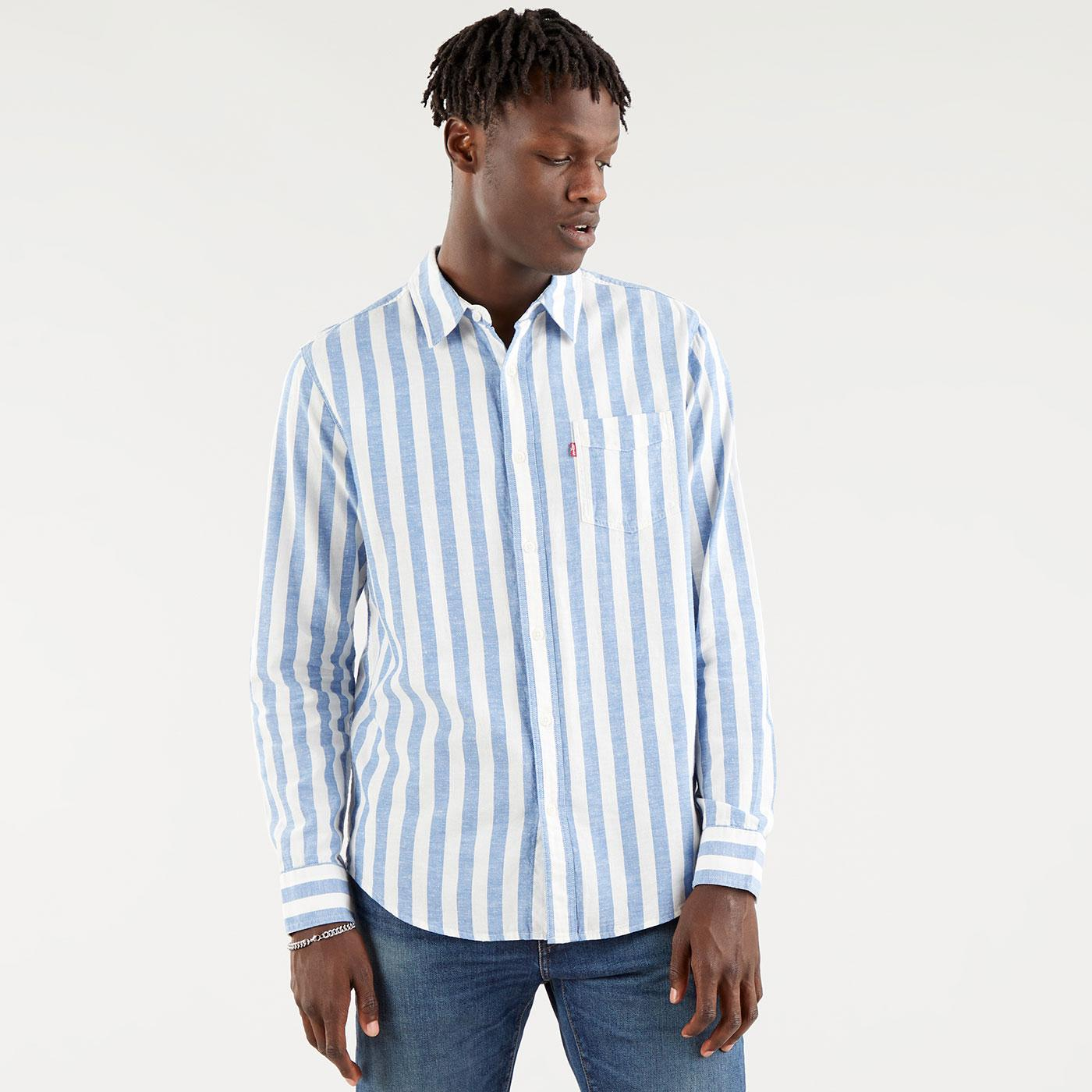 LEVI'S Sunset 1 Pkt Mod Jagger Stripe Shirt (CSS)