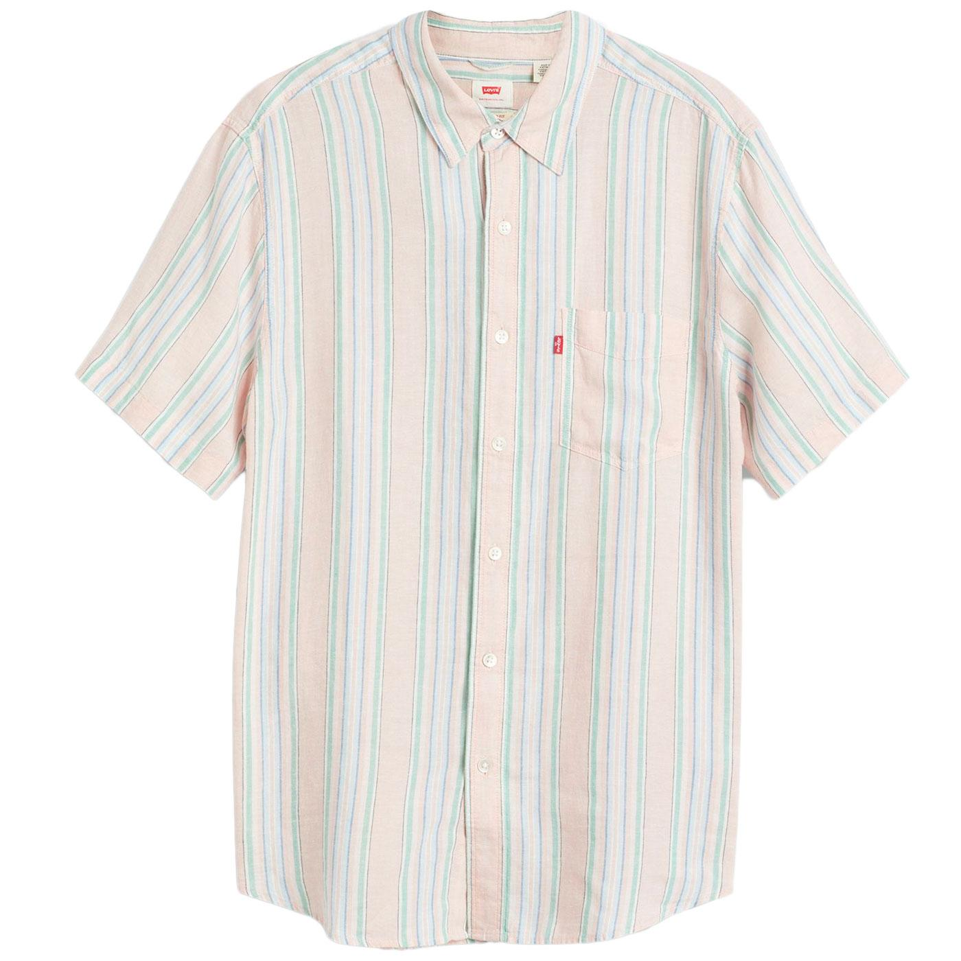 LEVI'S Retro Stripe Linen Blend 1 Pocket Shirt (P)