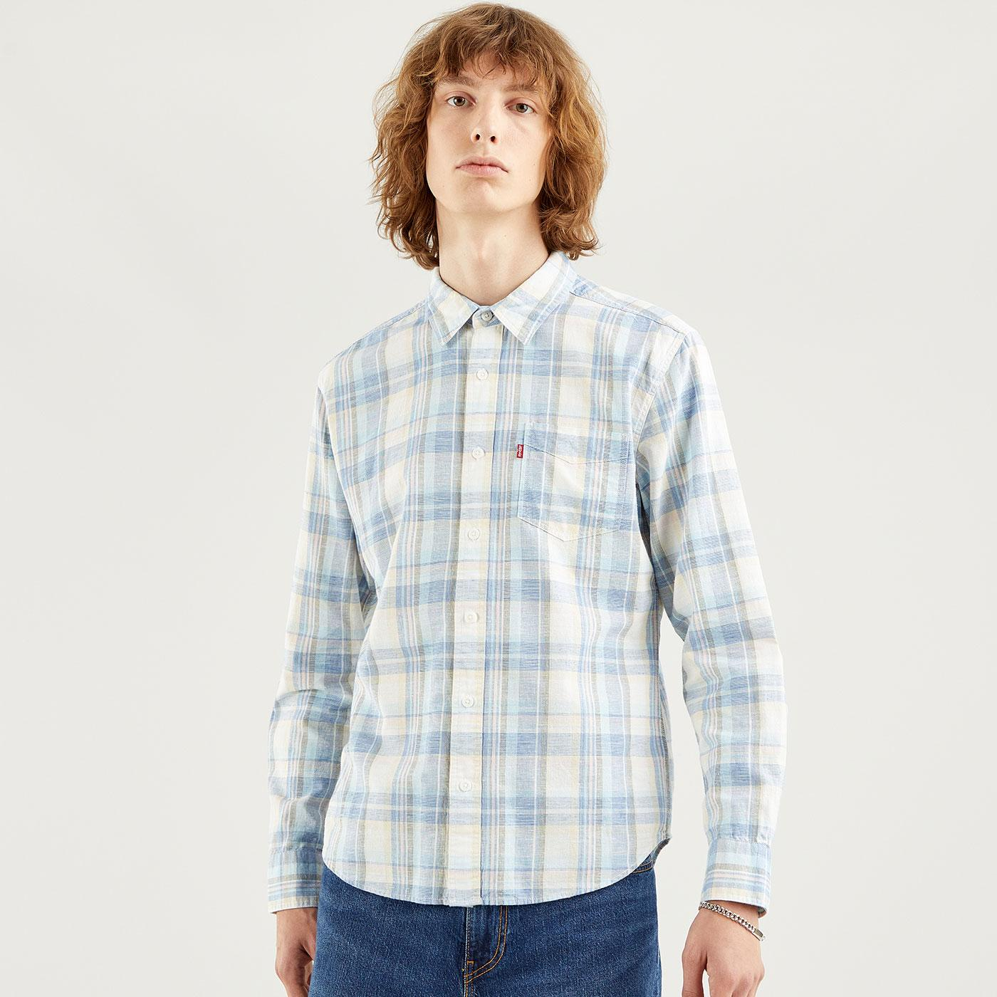 LEVI'S Sunset 1 Pkt Slim Retro Check Shirt (NSS)