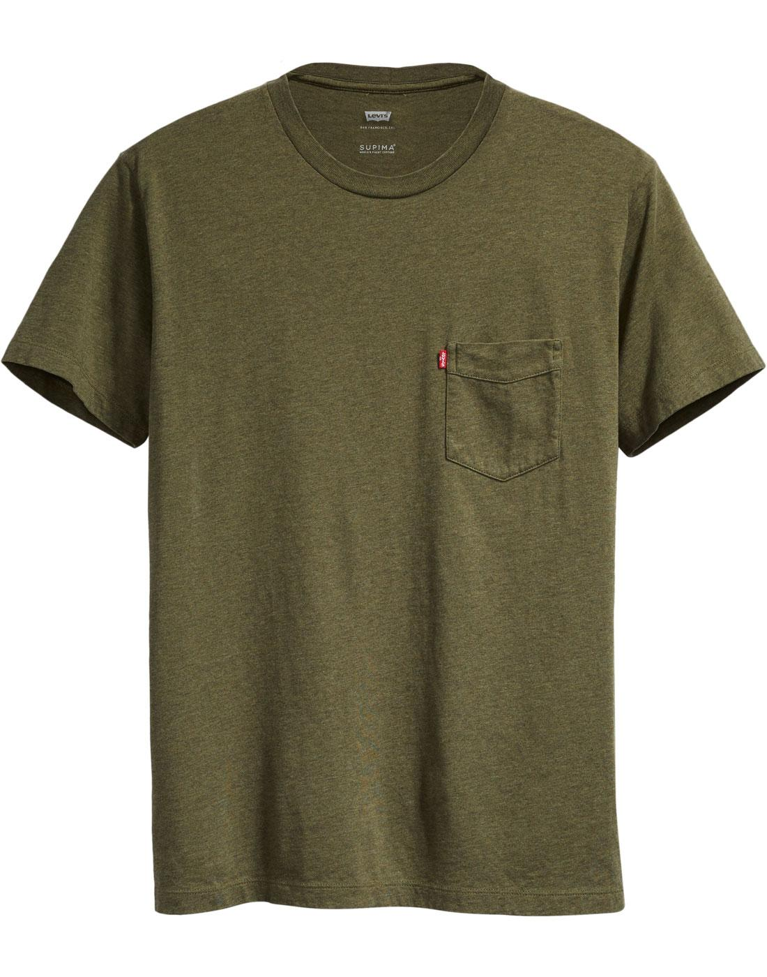 LEVI'S Sunset Pocket Retro 70s T-shirt (SEA MOSS)