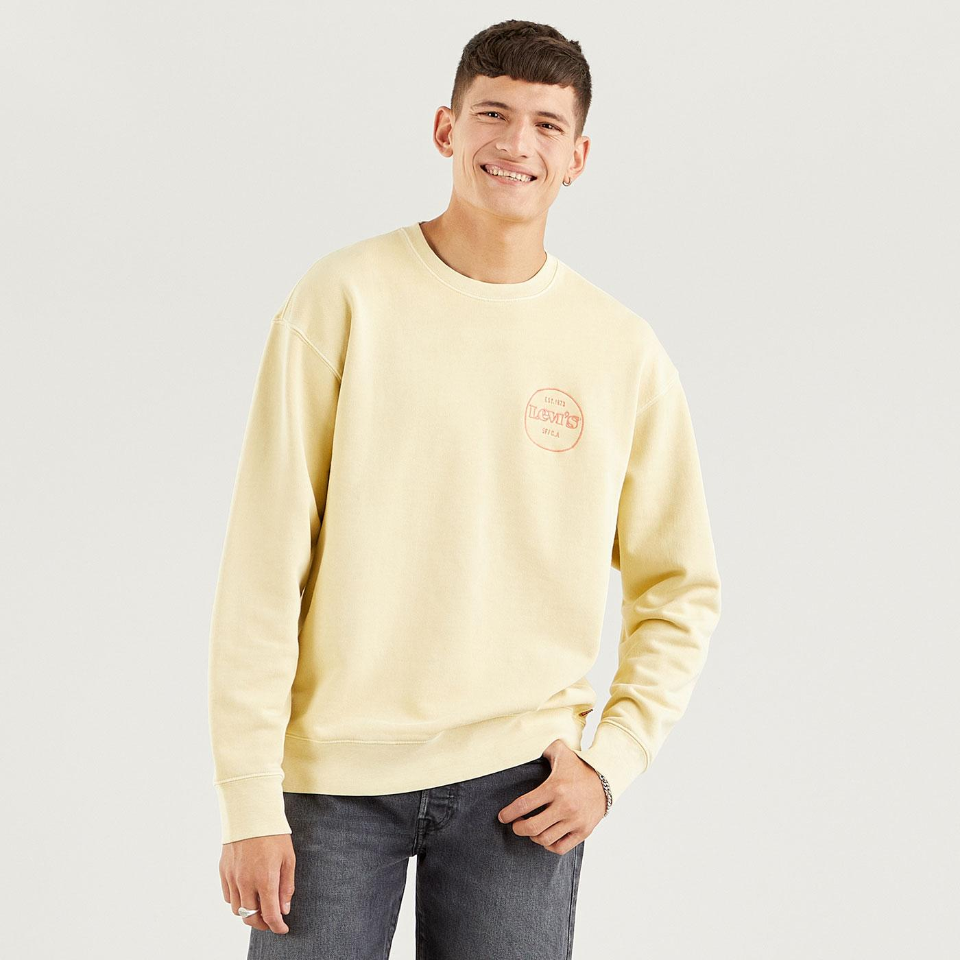 LEVI'S Relaxed T2 Graphic Crew Sweatshirt (GH)