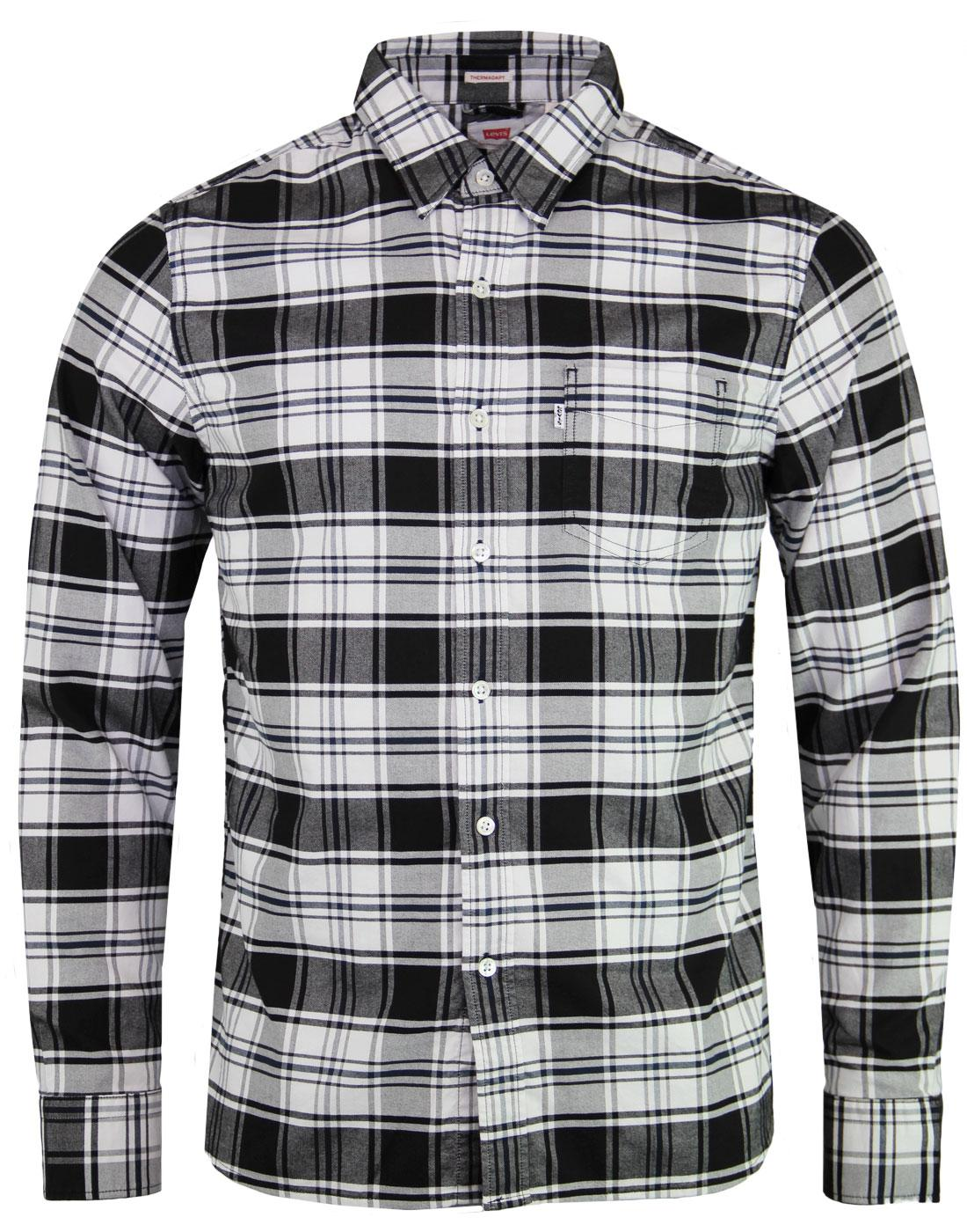 LEVI'S Sunset 1 Pocket Mod Thermadept Check Shirt