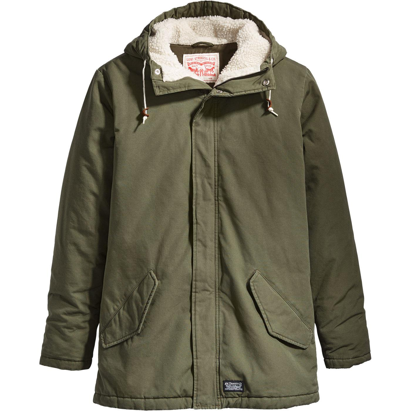 LEVI'S Thermore 60s Mod Padded Parka (Olive Night)