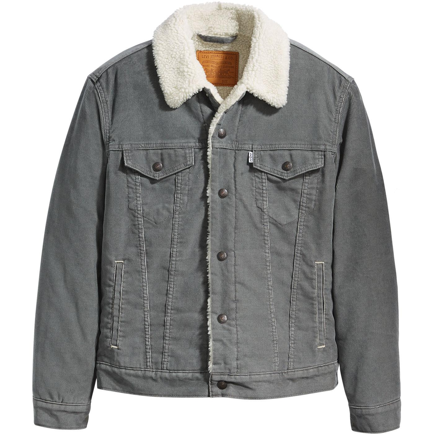LEVI'S Type 3 Retro Sherpa Cord Trucker Jacket (P)