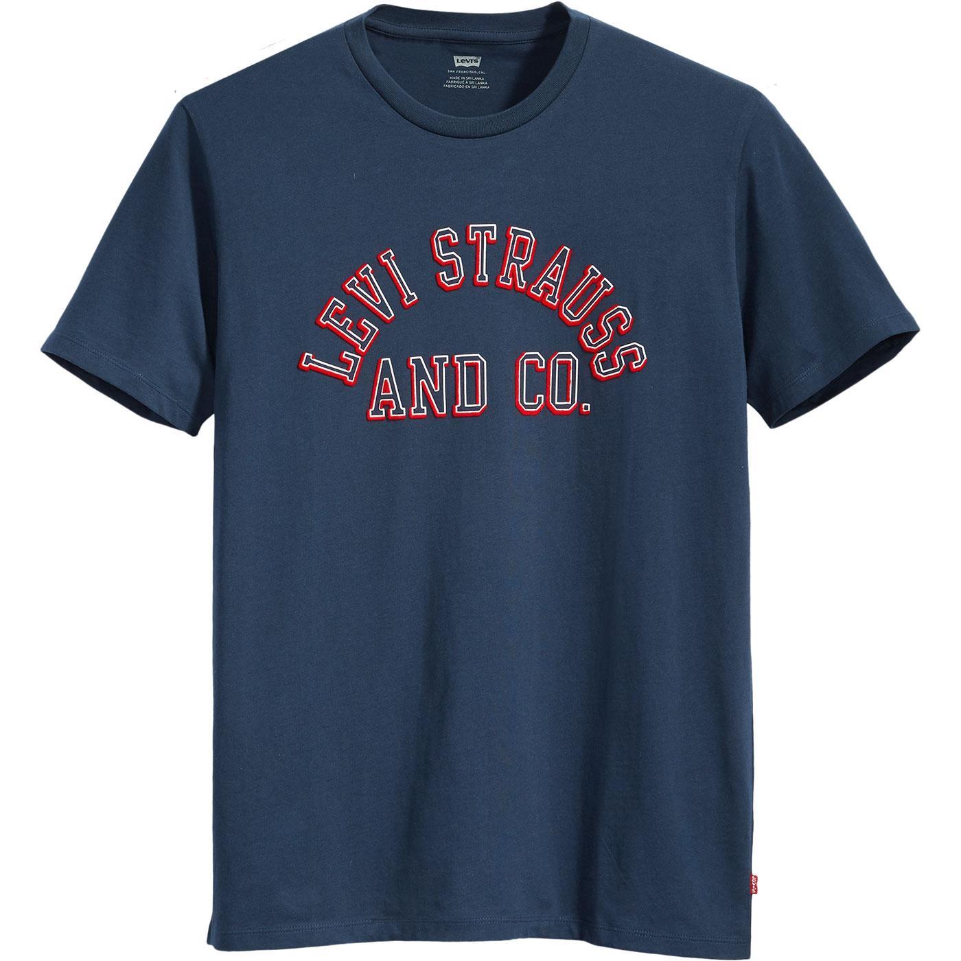 LEVI'S Retro 70s Varsity Athletics T-Shirt (Navy)