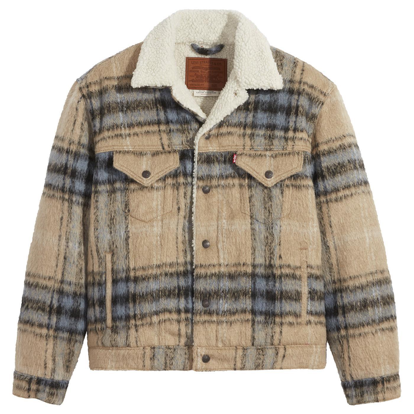 LEVI'S Vintage Fit 70s Check Sherpa Trucker Jacket