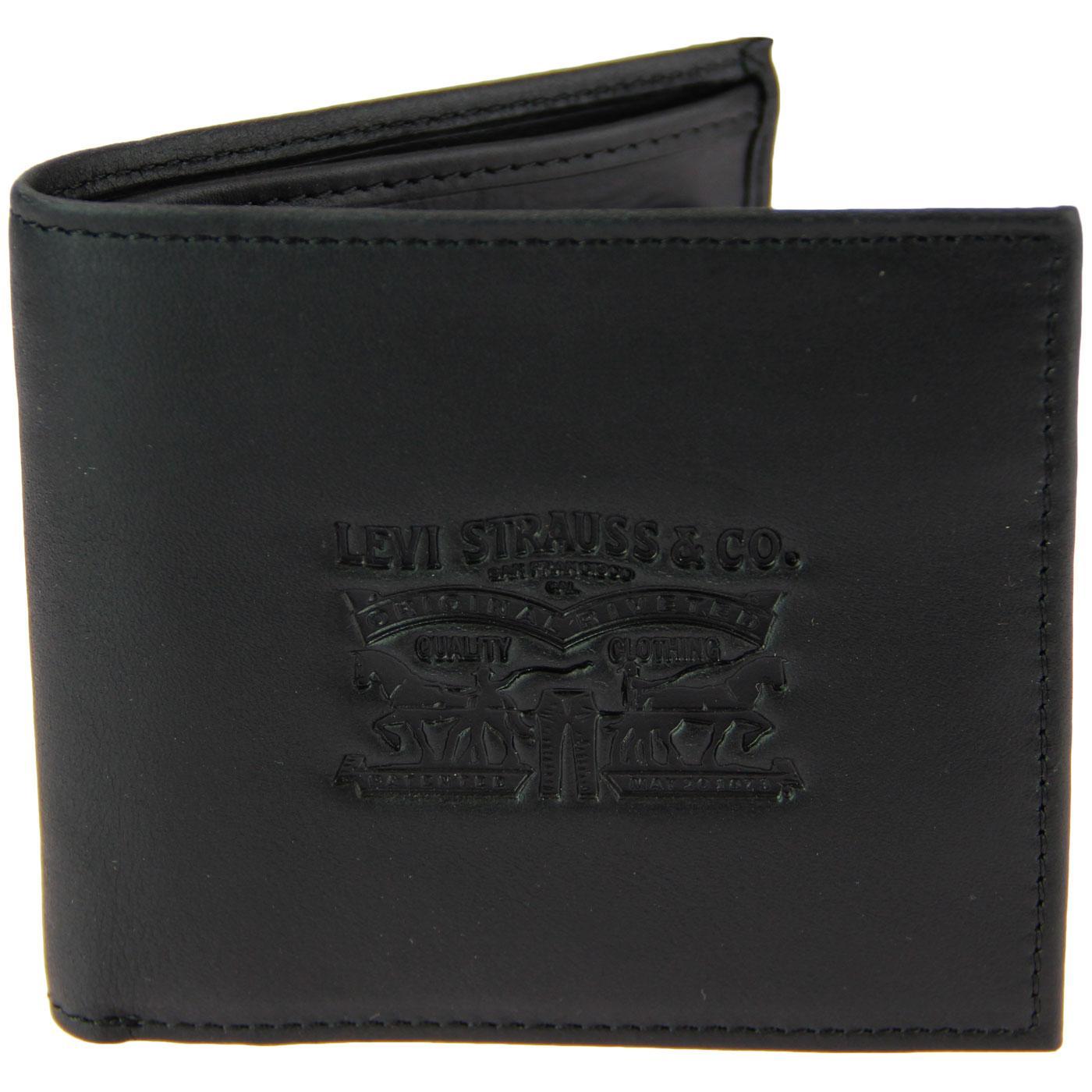 LEVI'S Vintage Two Horse Men's Retro Wallet BLACK