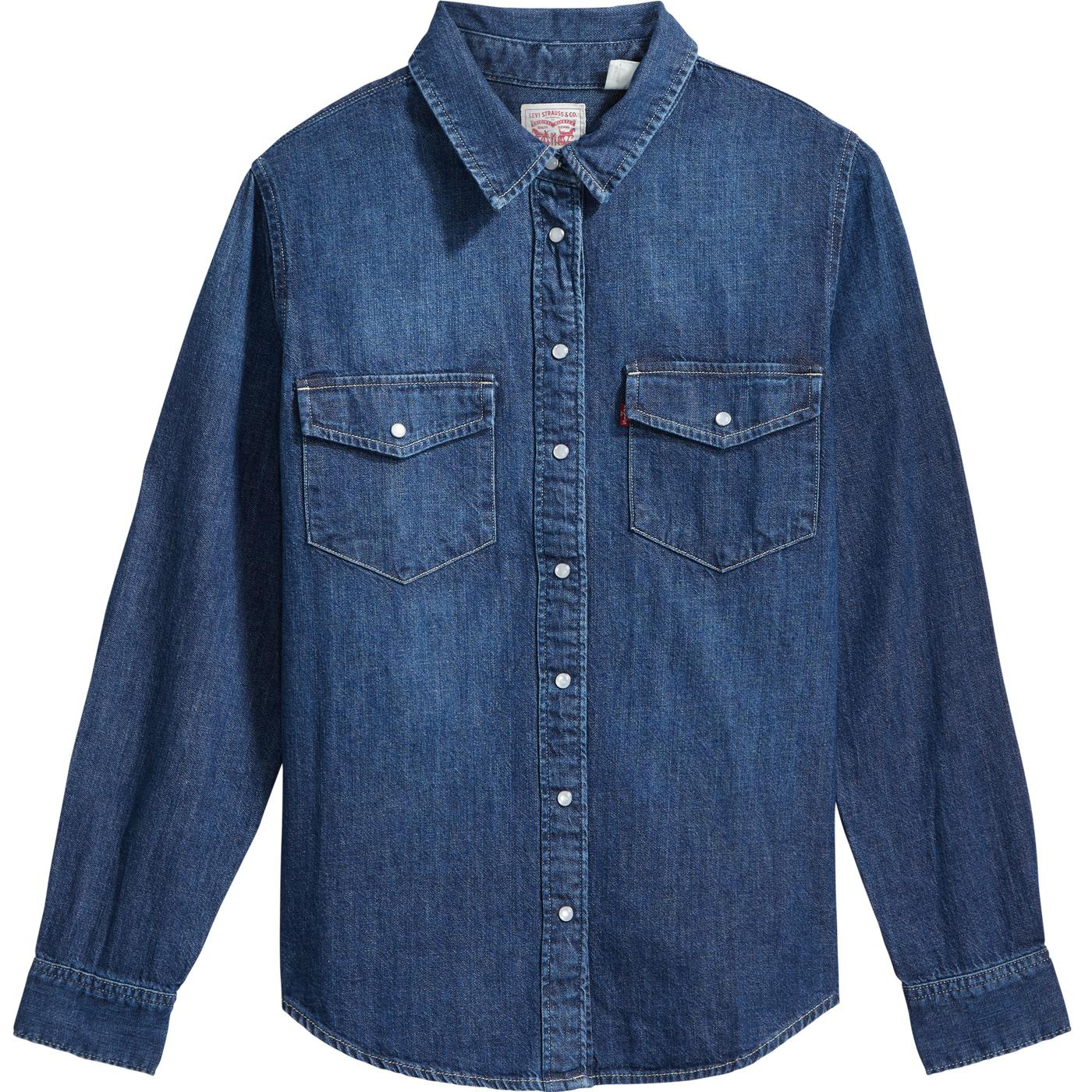 LEVI'S Women's Essential Western Shirt AIR SPACE 2