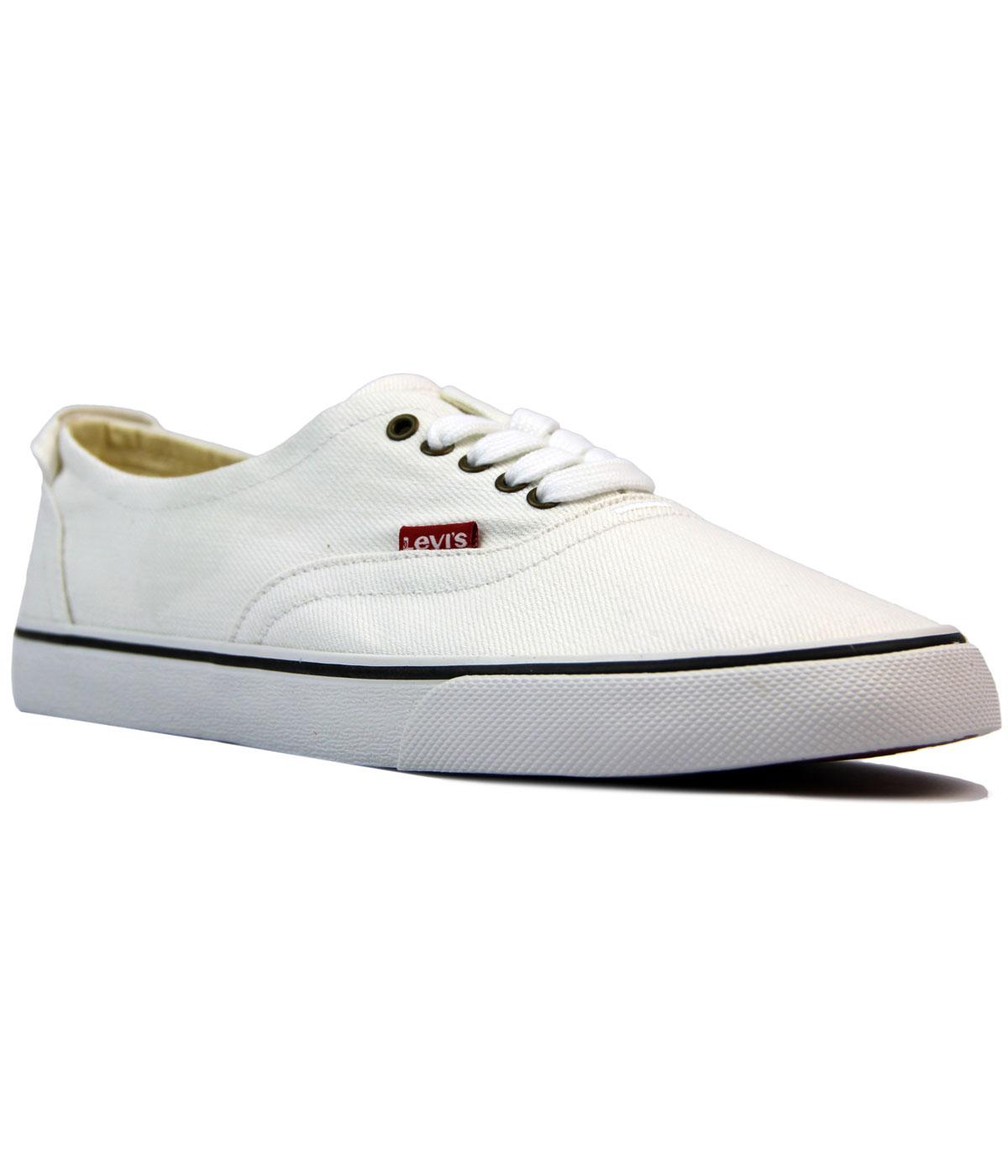 Levi's® Retro 1970s White Canvas Red Tab Sneakers