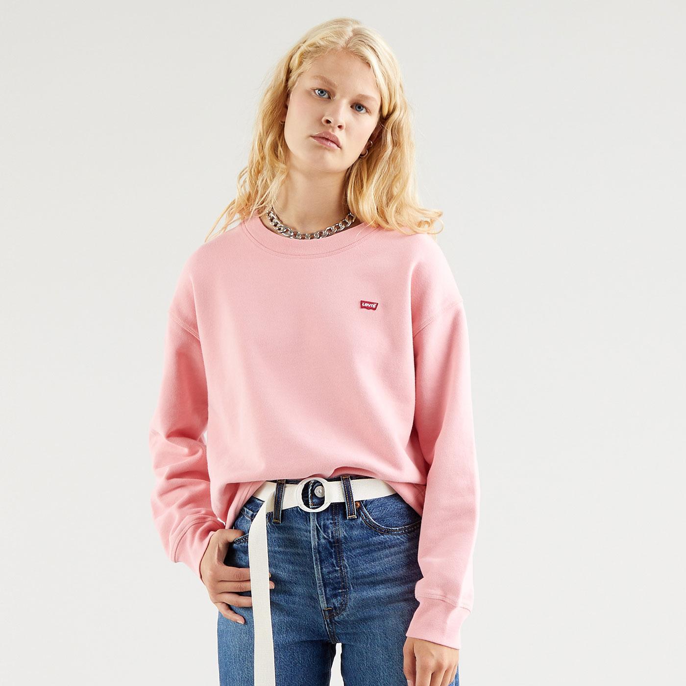 LEVI'S WOMENS Retro Classic Crew Neck Sweatshirt P