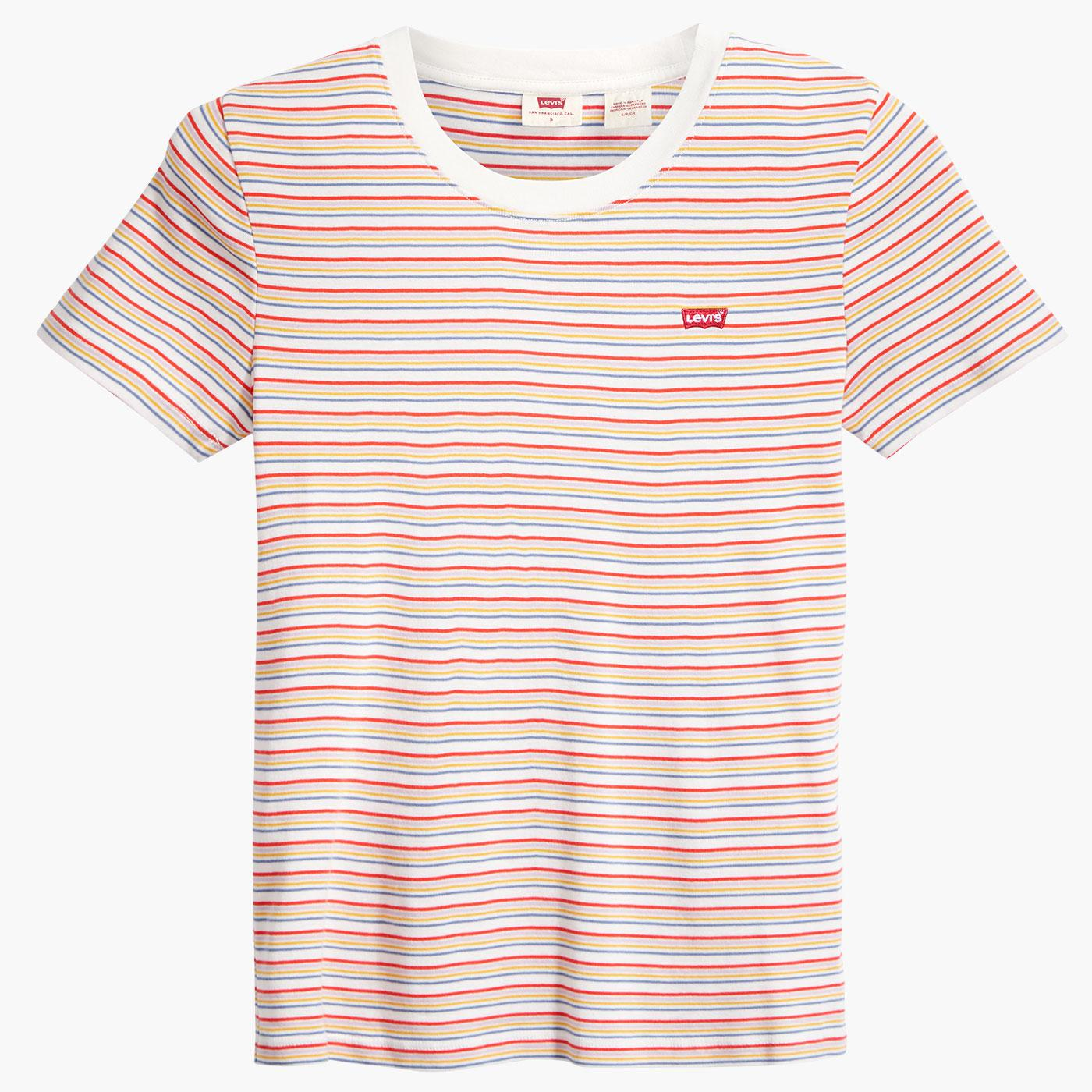 Baby Tee LEVI'S WOMENS Retro Fine Stripe T-Shirt