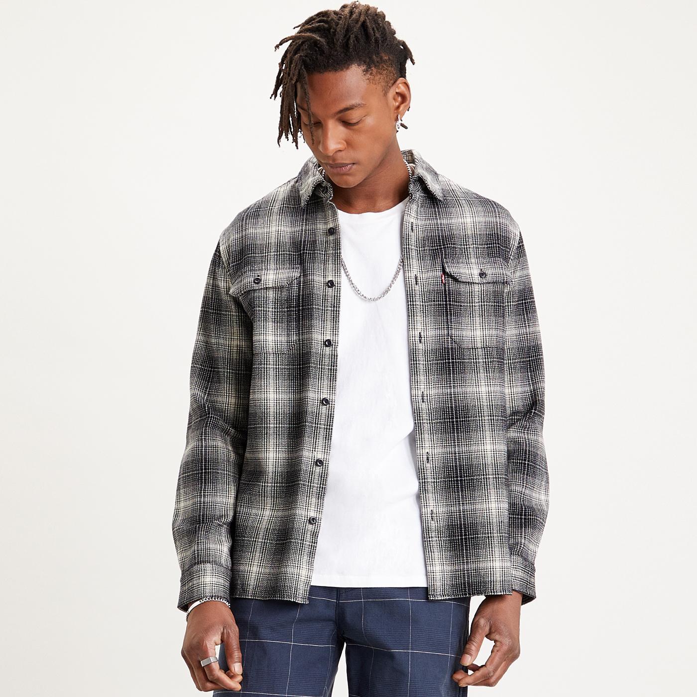 Jackson LEVI'S Retro Check Over Shirt (Jet Black)