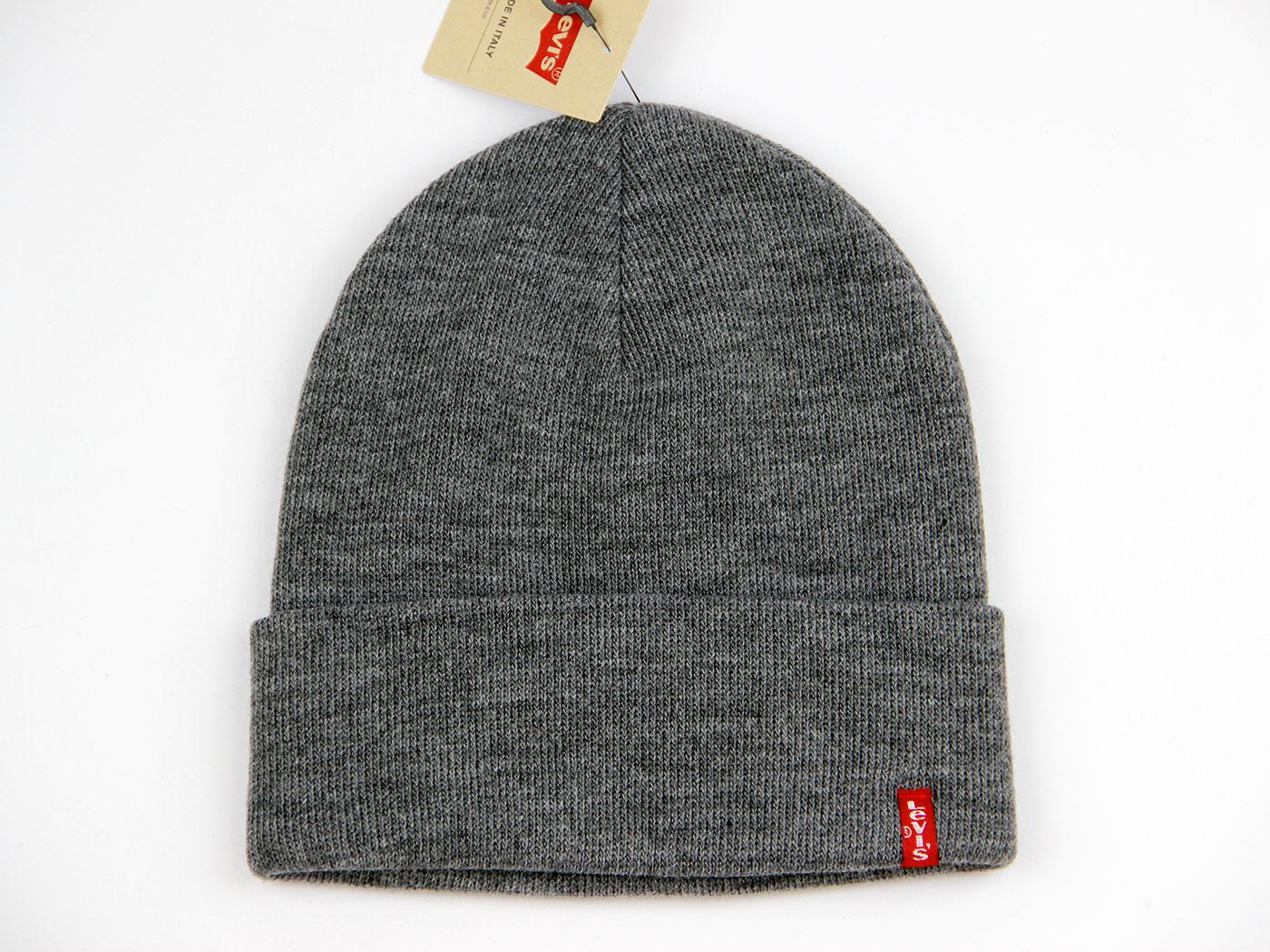 LEVI'S® Retro Indie Knitted Beanie Hat (Grey)
