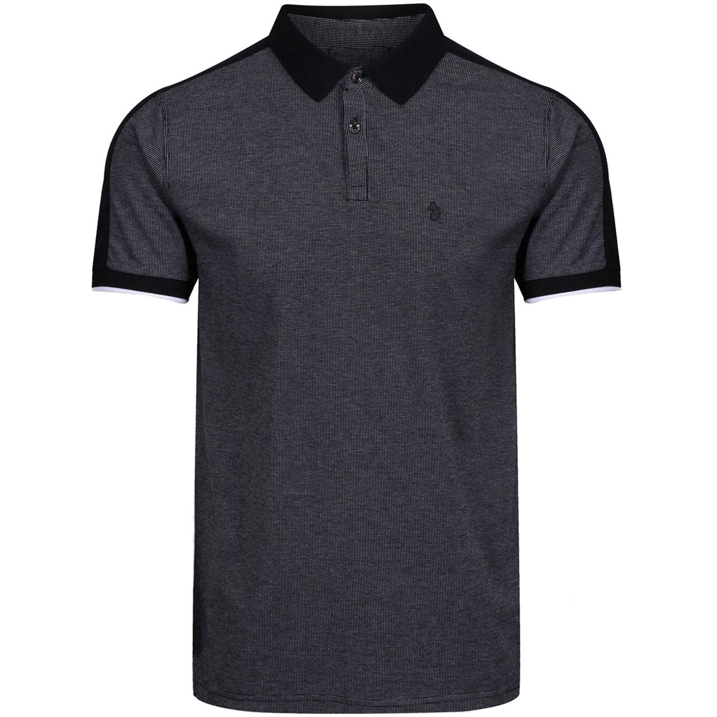 Toker LUKE Mens Retro Birdseye Tonic Polo Shirt JB
